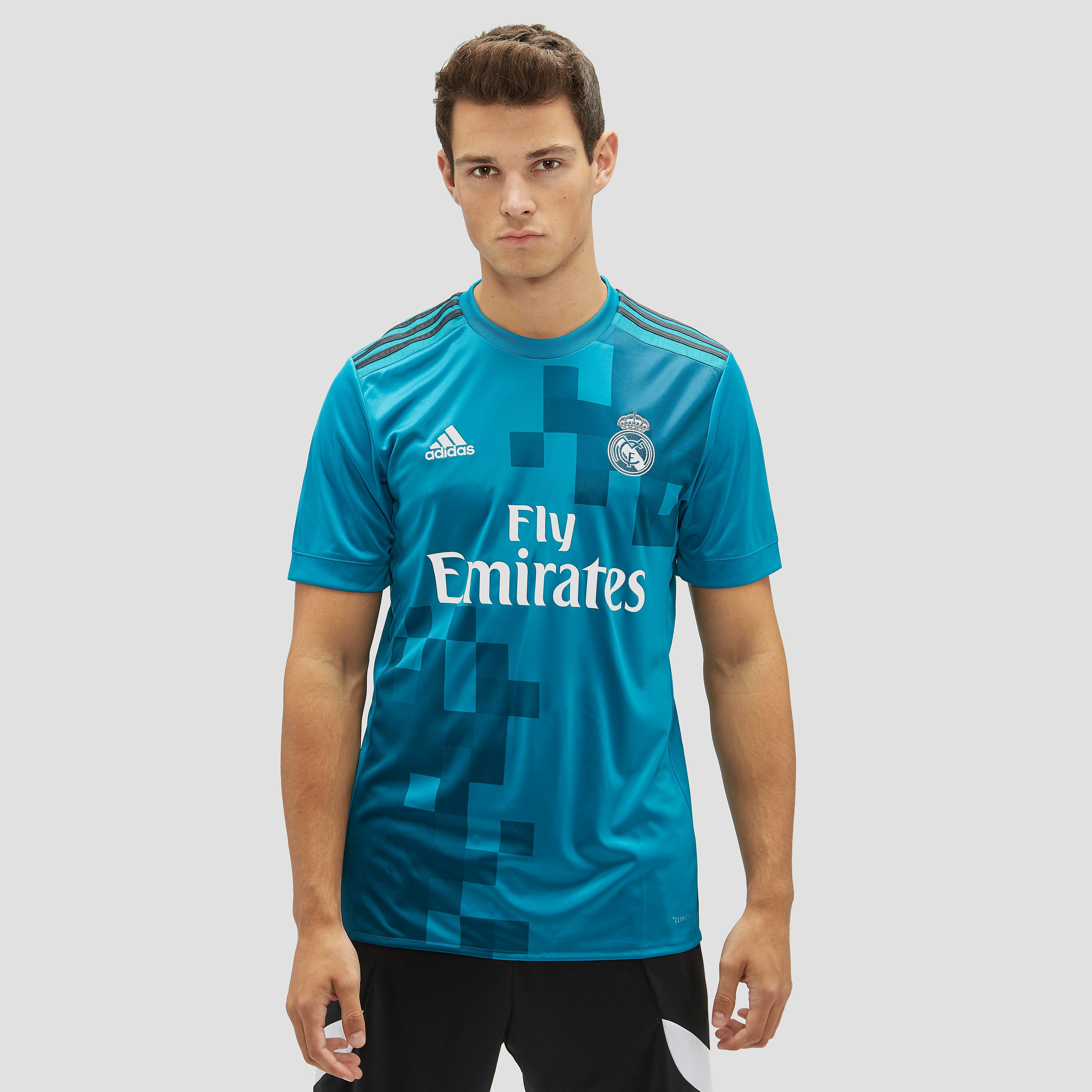 ADIDAS REAL MADRID THIRD TRAININGSSHIRT BLAUW HEREN