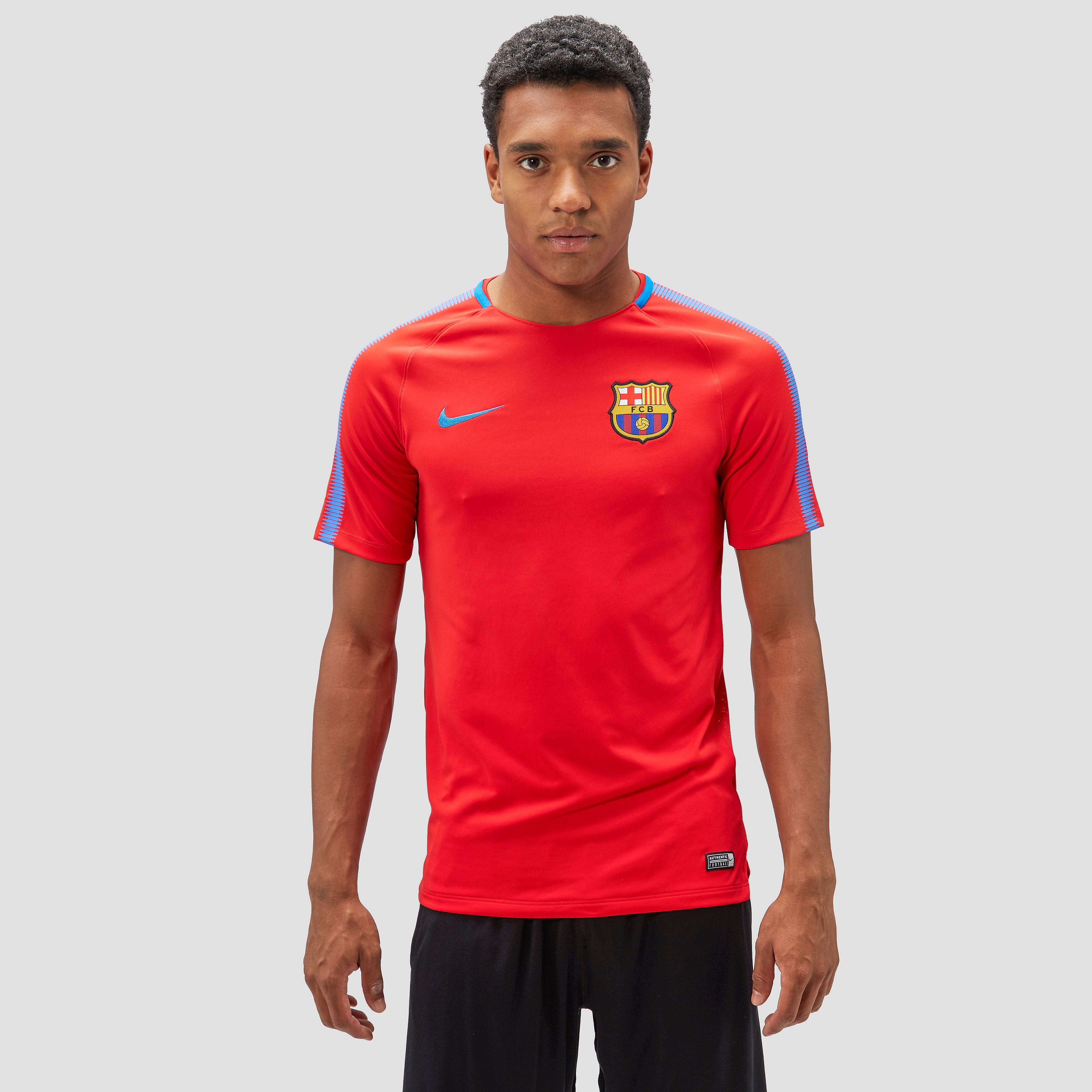 NIKE FC BARCELONA TRAININGSSHIRT ROOD HEREN