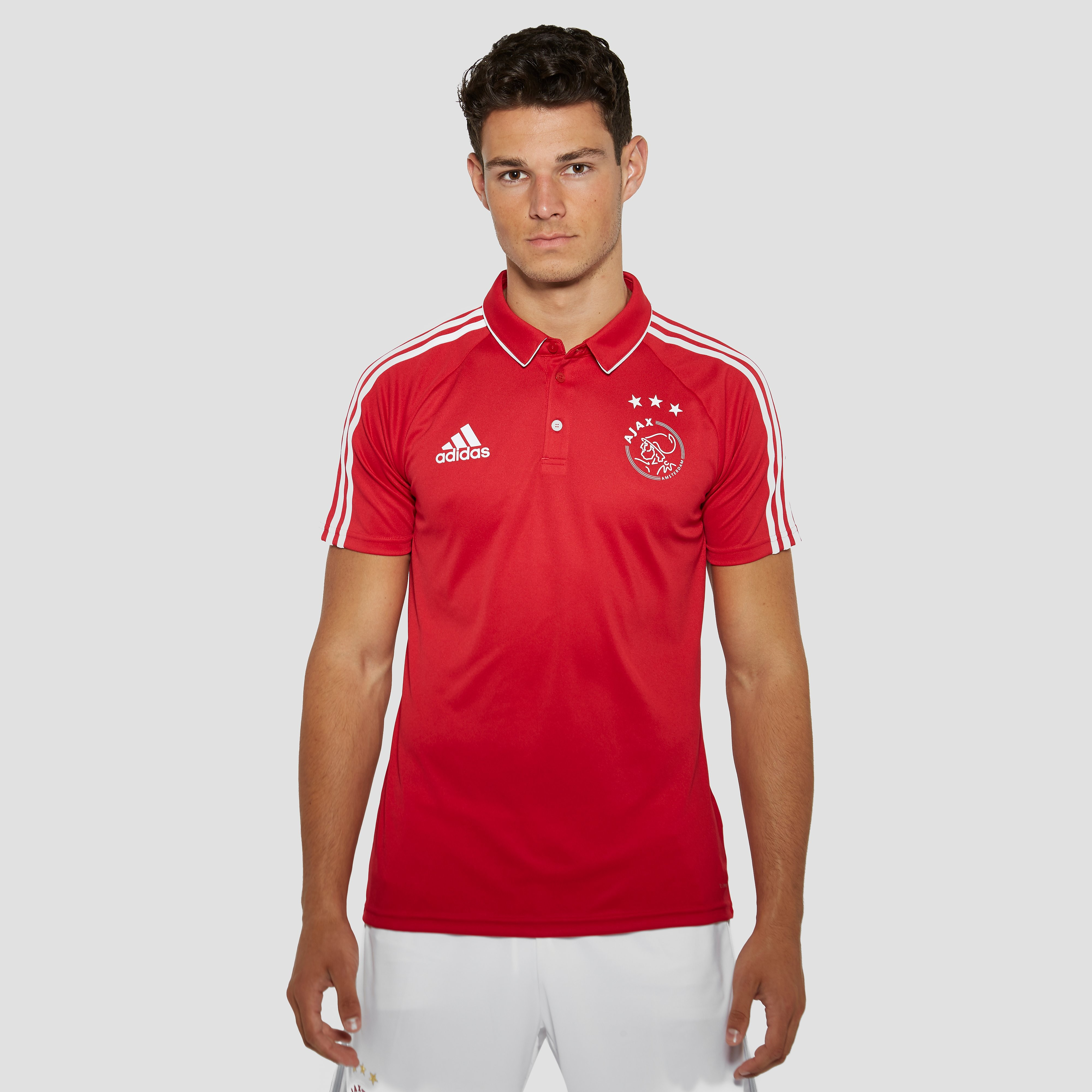 ADIDAS AJAX THUISPOLO 17/18 ROOD/WIT HEREN