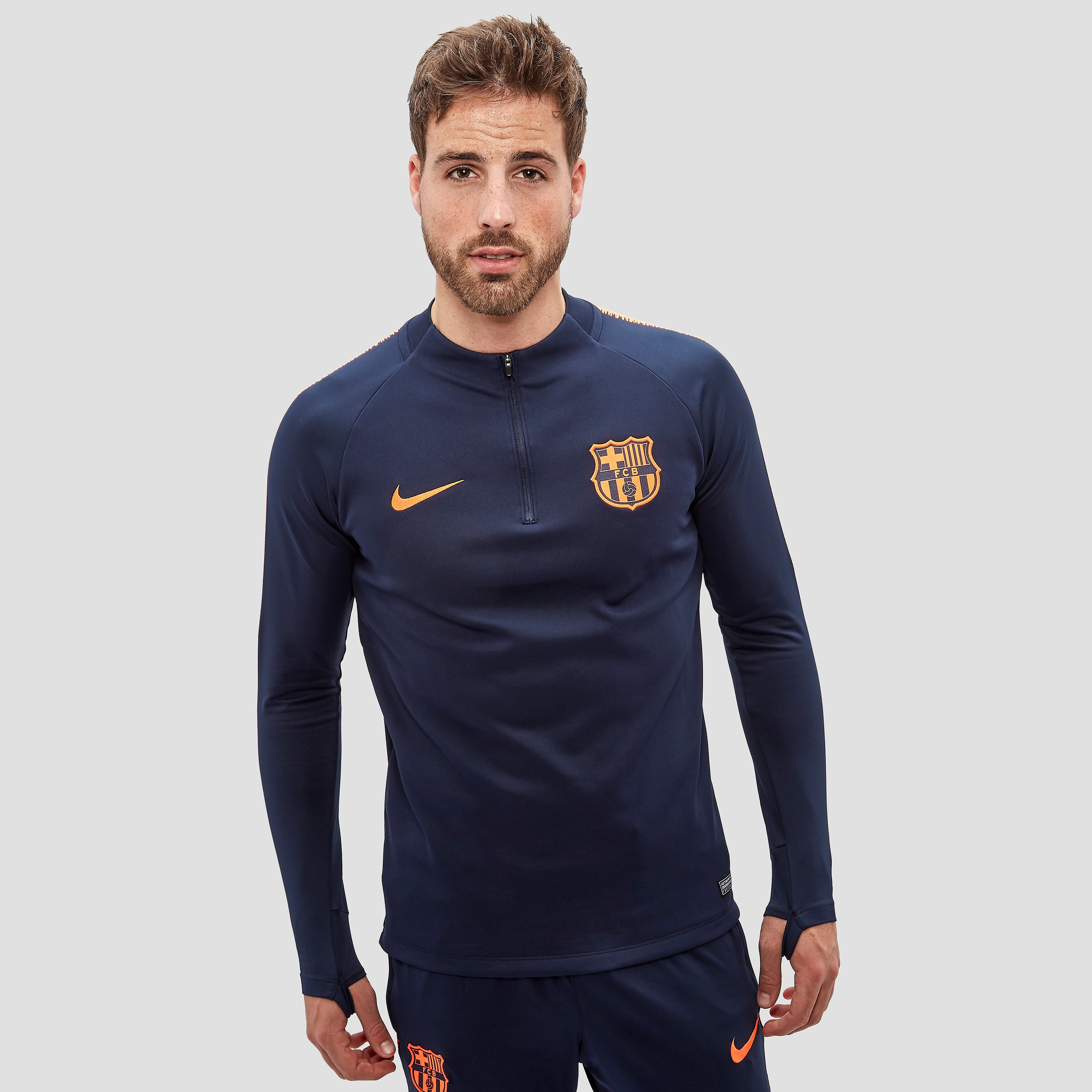 NIKE FC BARCELONA TRAININGSTOP 17/18 BLAUW/ORANJE HEREN