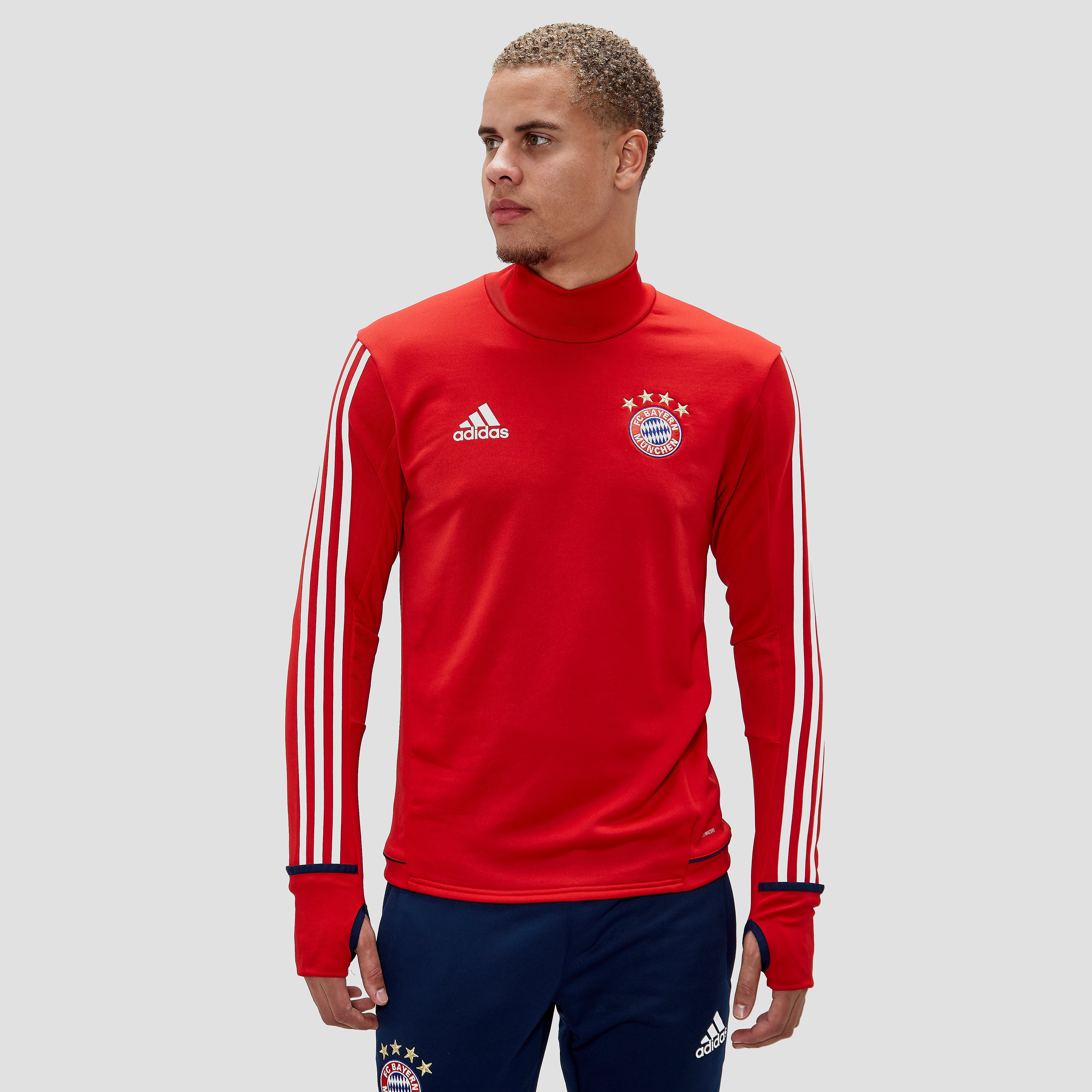 ADIDAS FC BAYERN MÜNCHEN TRAININGSTOP 17/18 ROOD/WIT HEREN