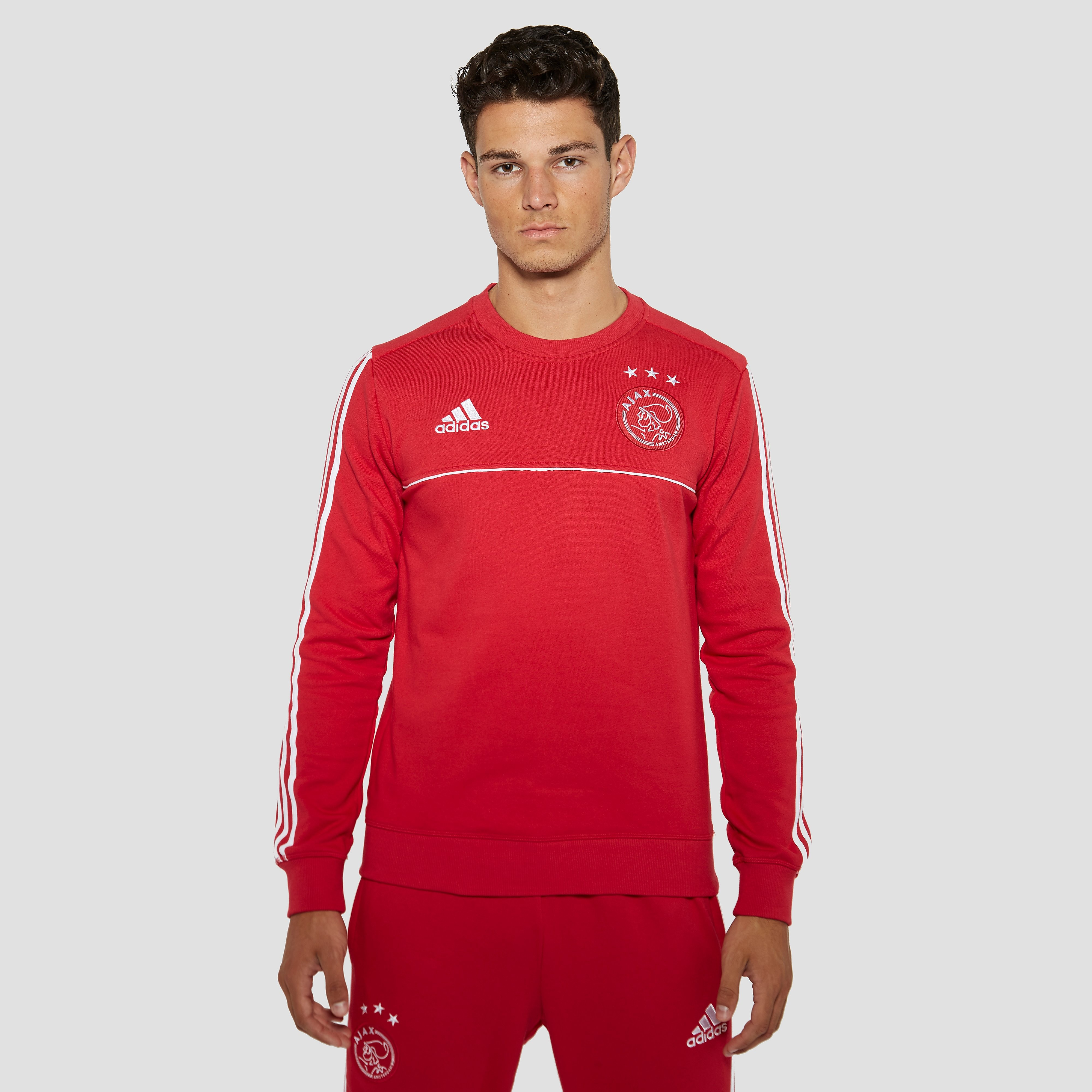 ADIDAS AJAX THUIS SWEATER ROOD/WIT HEREN