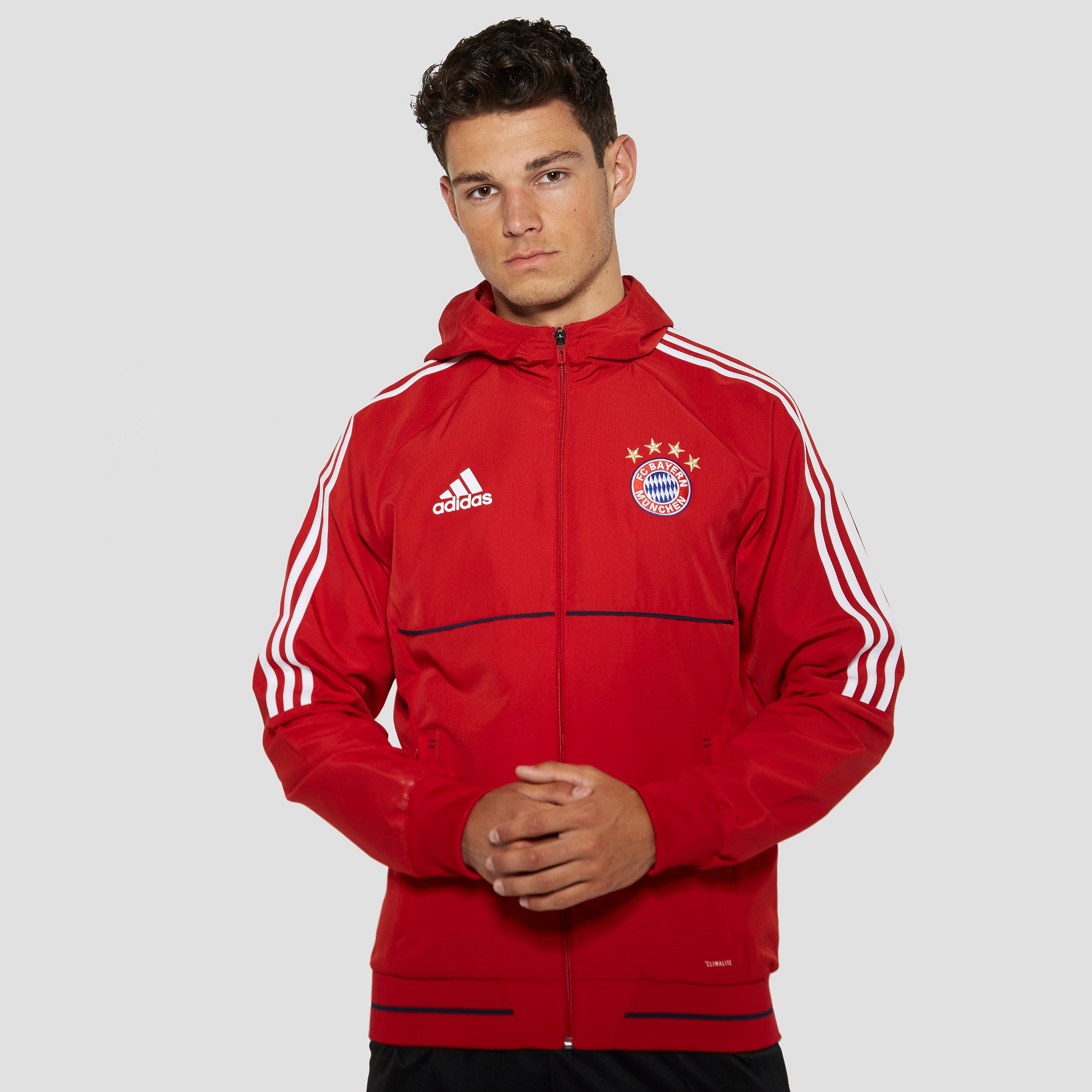 ADIDAS FC BAYERN MÜNCHEN PRESENTATIEJAS ROOD/WIT HEREN
