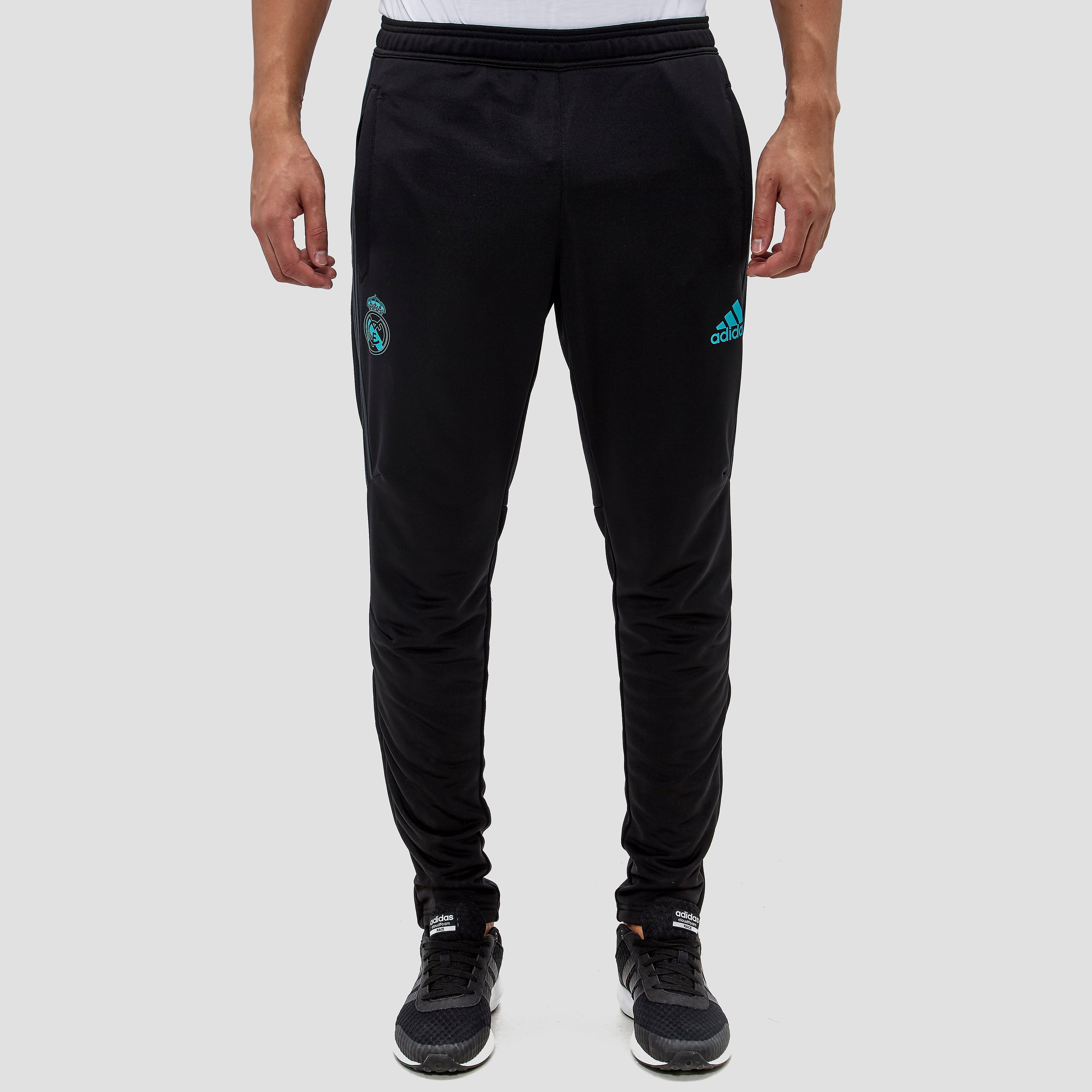 ADIDAS REAL MADRID TRAININGSBROEK 17/18 ZWART/GROEN HEREN