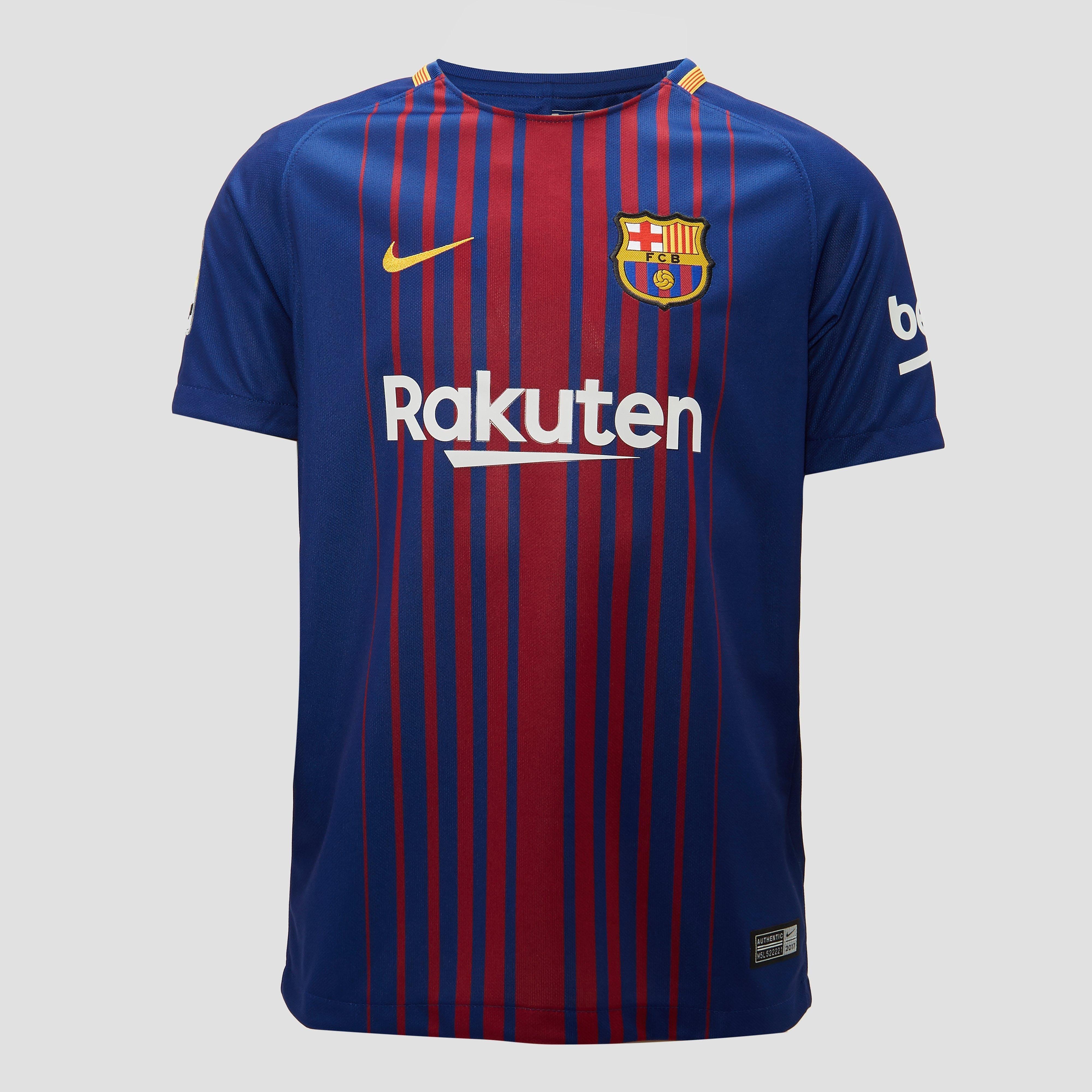 NIKE FC BARCELONA THUISSHIRT BLAUW/ROOD JONGENS