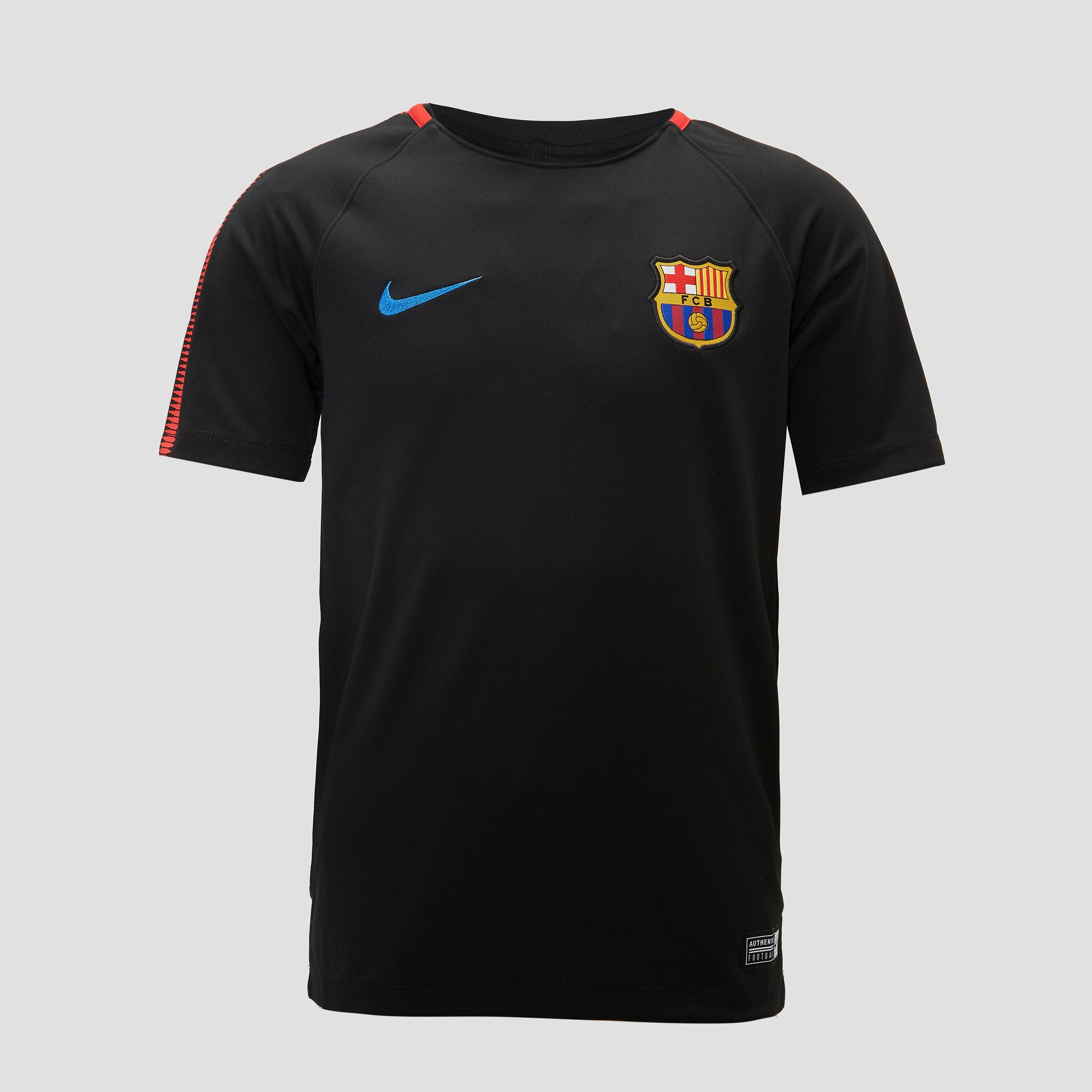 NIKE FC BARCELONA TRAININGSSHIRT ZWART JONGENS