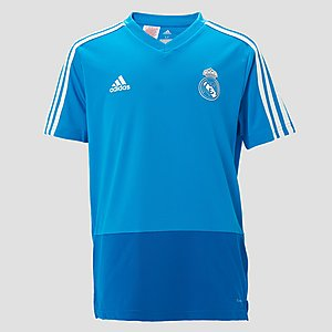 c5557bed34a ADIDAS REAL MADRID TRAININGSSHIRT 18/19 BLAUW KINDEREN