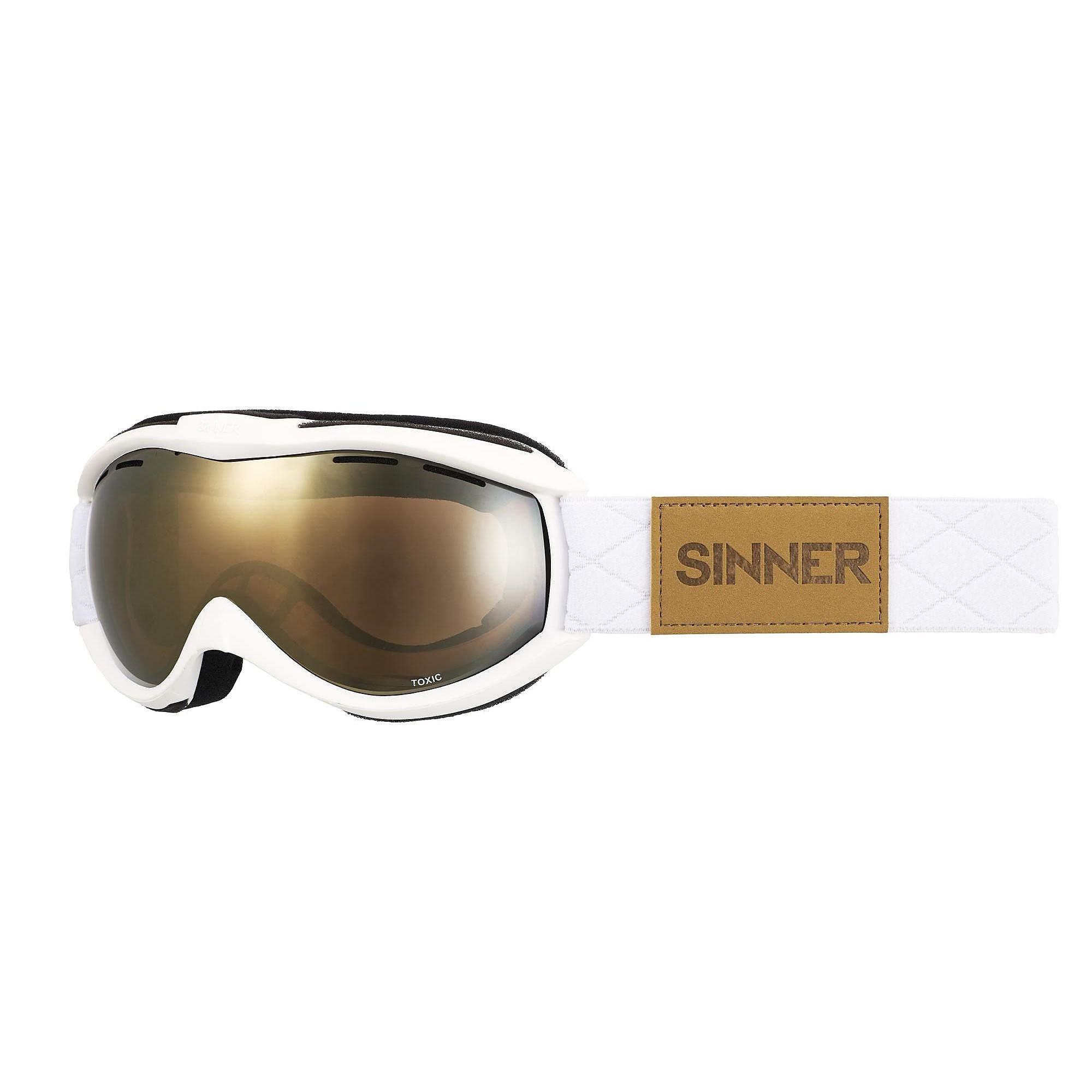 SINNER TOXIC SKIBRIL WIT/GOUD