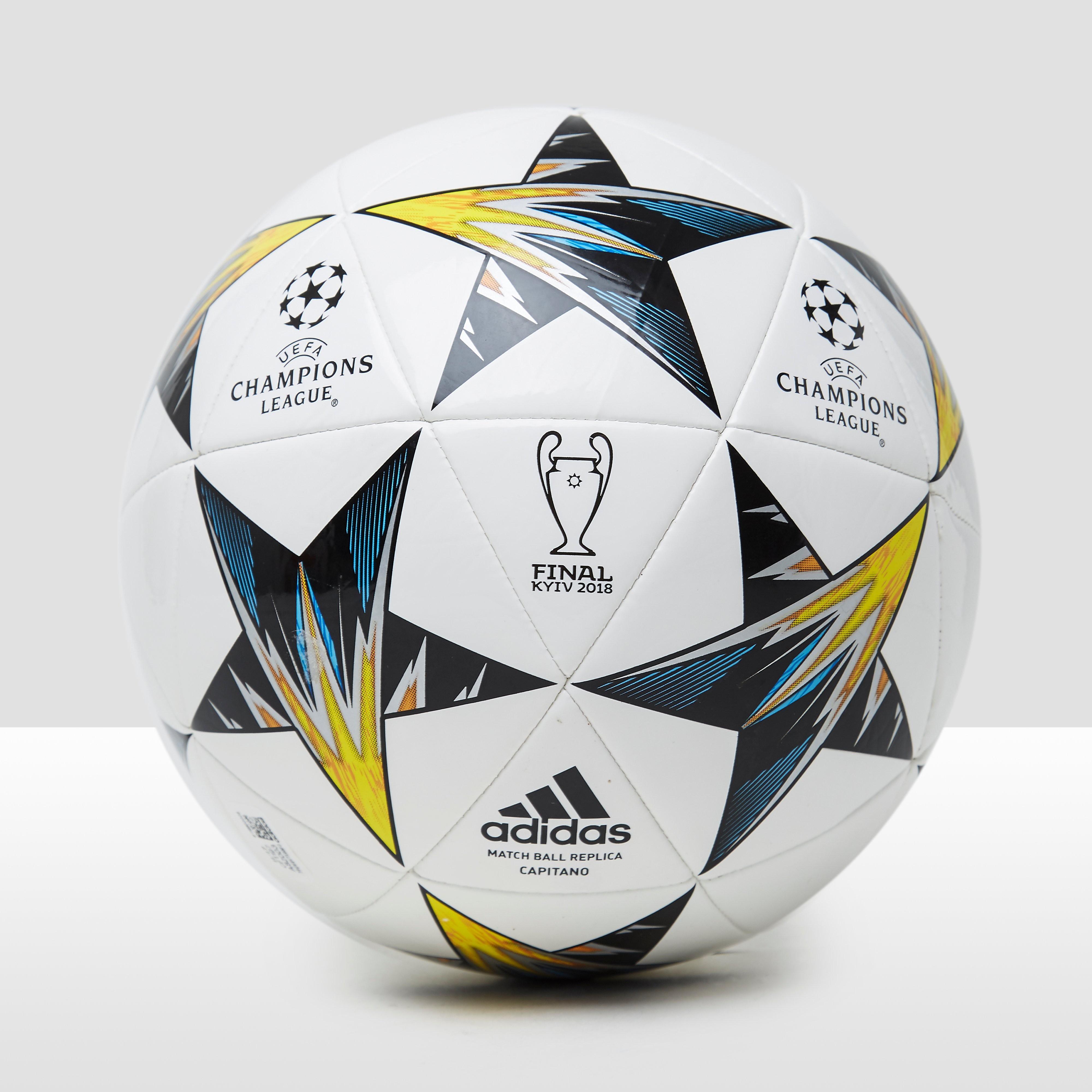 ADIDAS UEFA CHAMPIONS LEAGUE FINALE KIEV 17/18 CAPITANO VOETBAL WIT/GEEL
