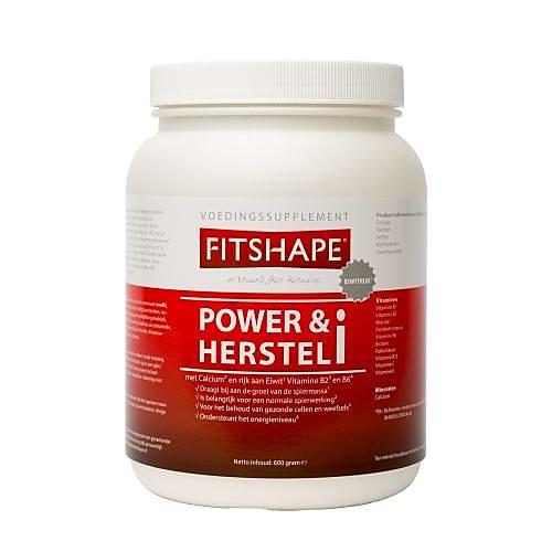 Fitshape POWER&HERSTEL VANILLE 600G