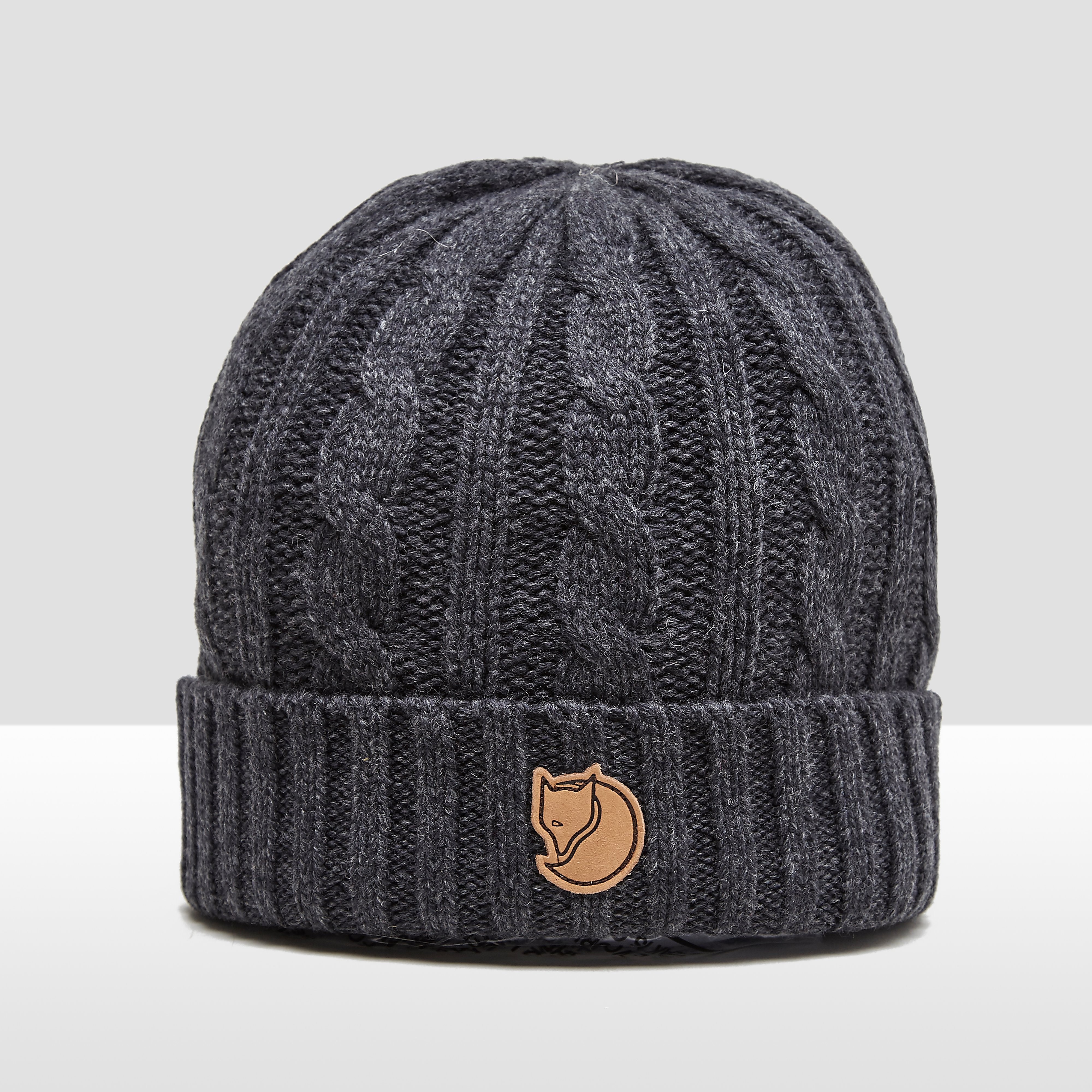 FJALLRAVEN BRAIDED KNIT MUTS GRIJS