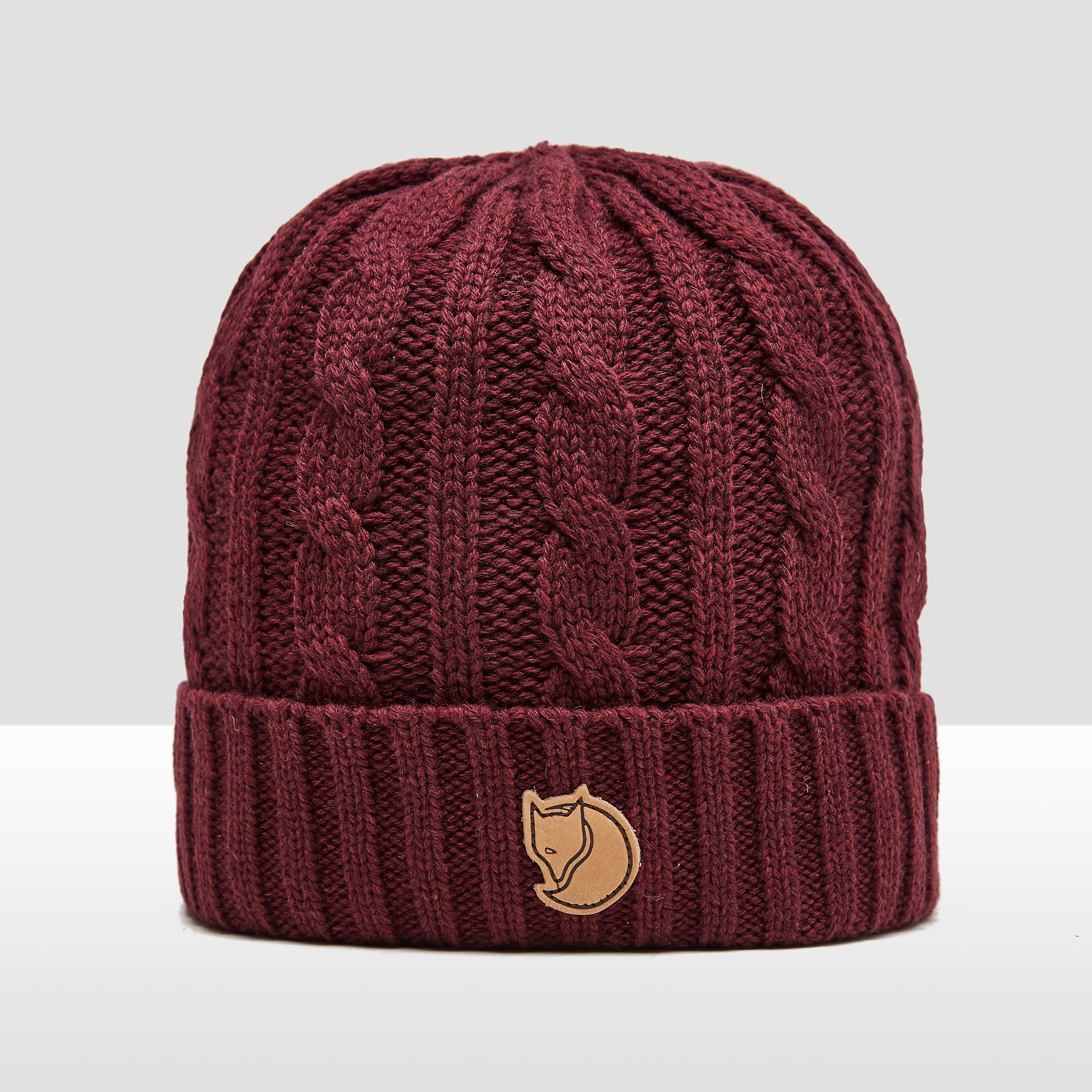 FJALLRAVEN BRAIDED KNIT MUTS ROOD