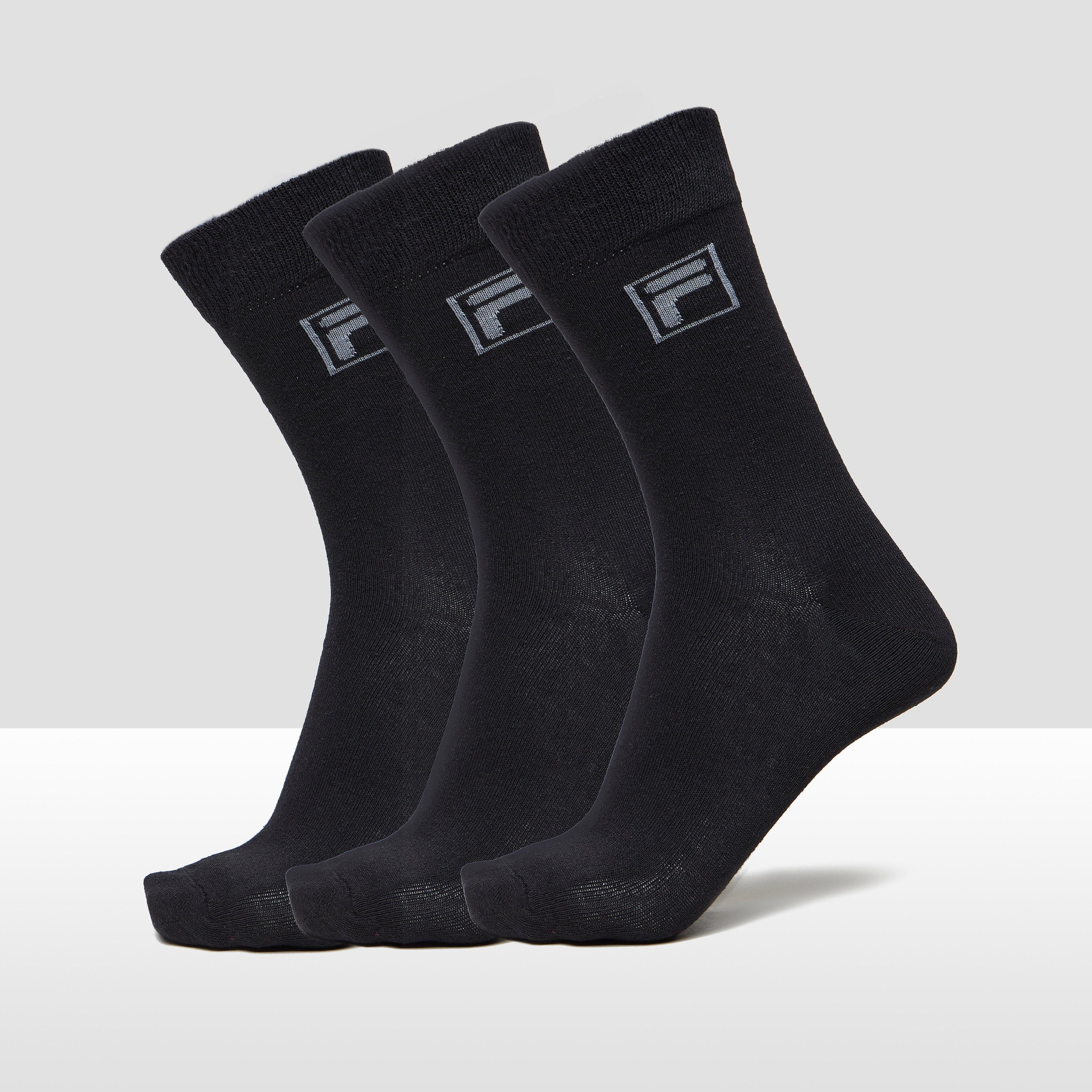 FILA ESS DRESSED SOKKEN 3-PACK BLAUW/ZWART