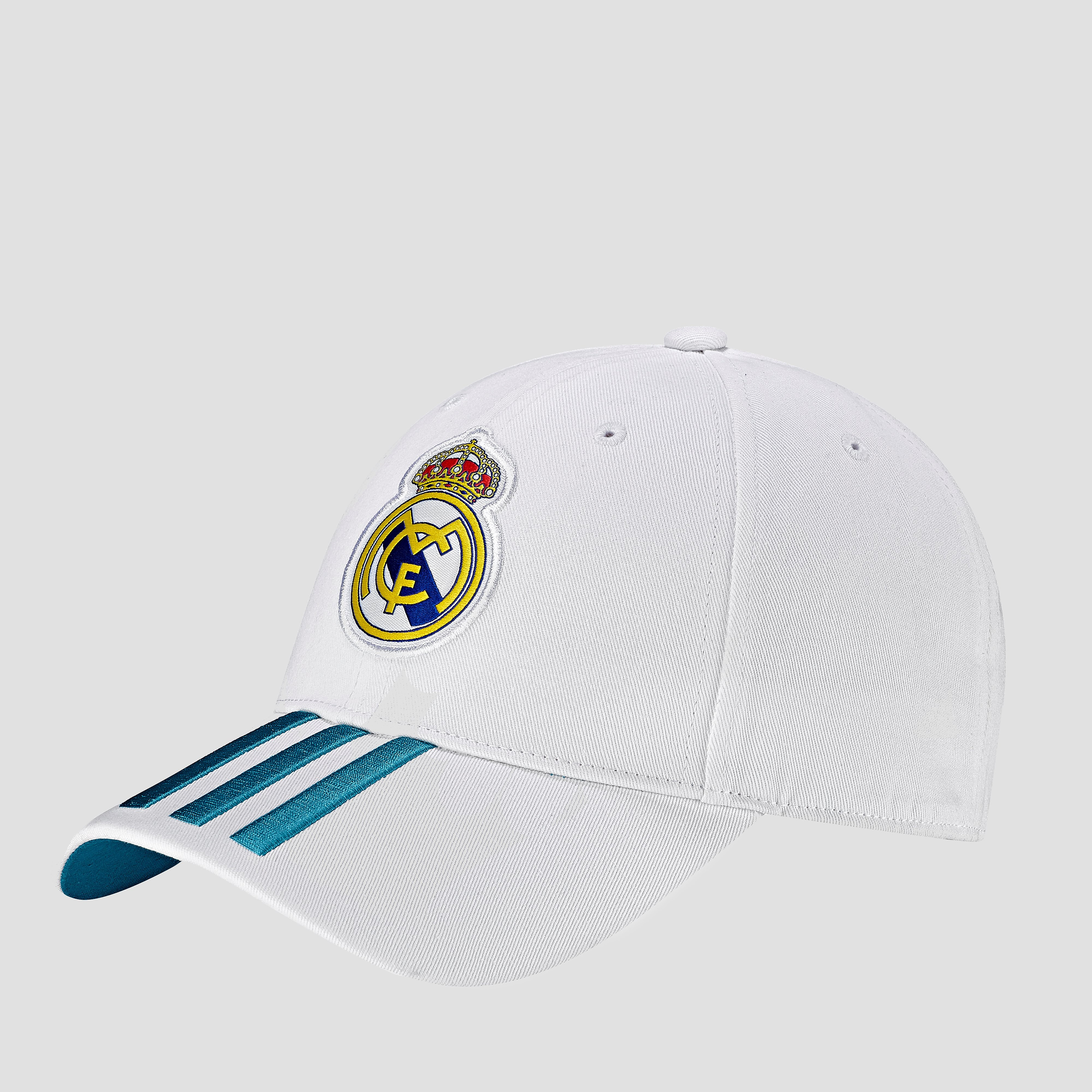 ADIDAS REAL MADRID 3-STRIPES PET WIT/TURQUOISE HEREN