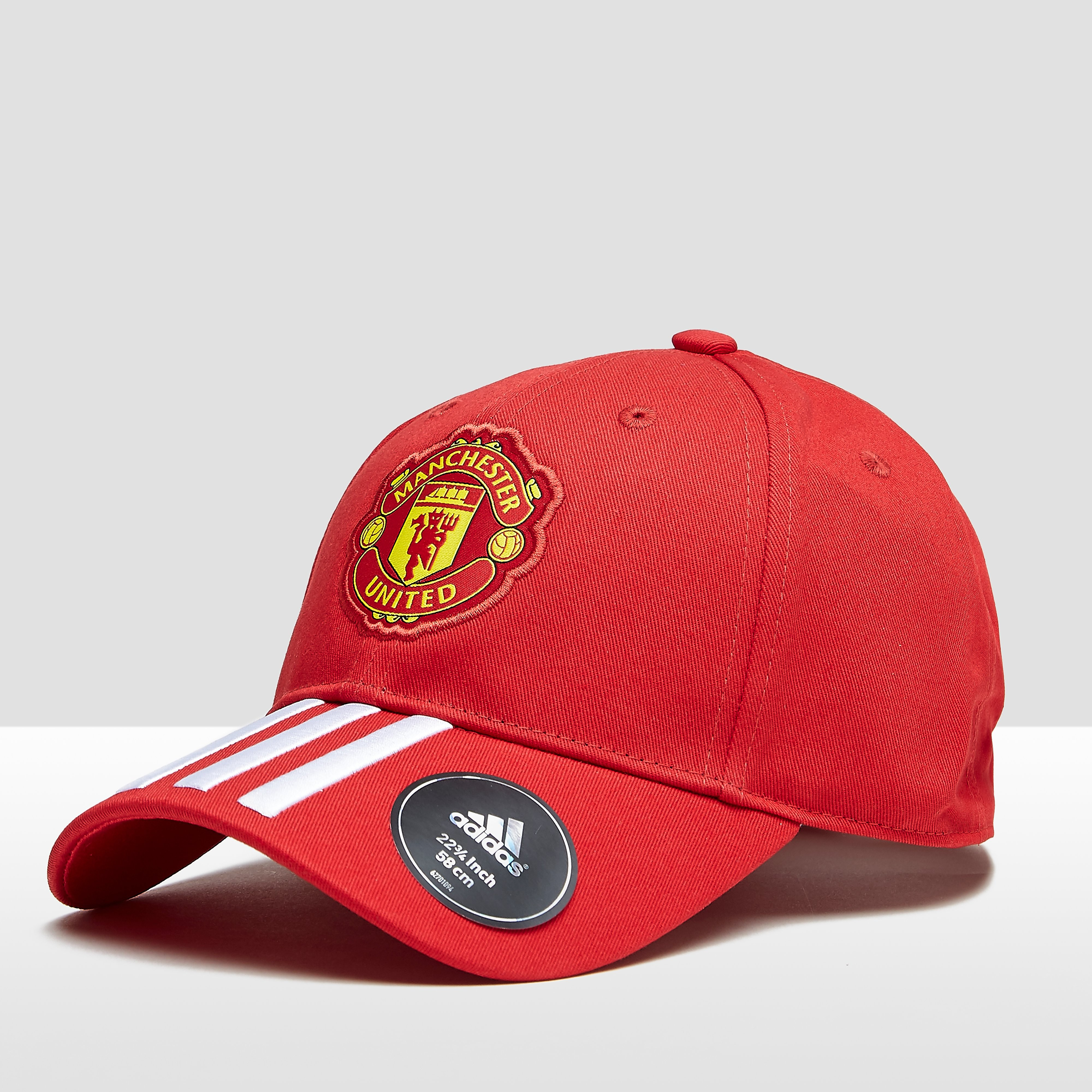 ADIDAS MANCHESTER UNITED FC 3-STRIPES ROOD/WIT PET