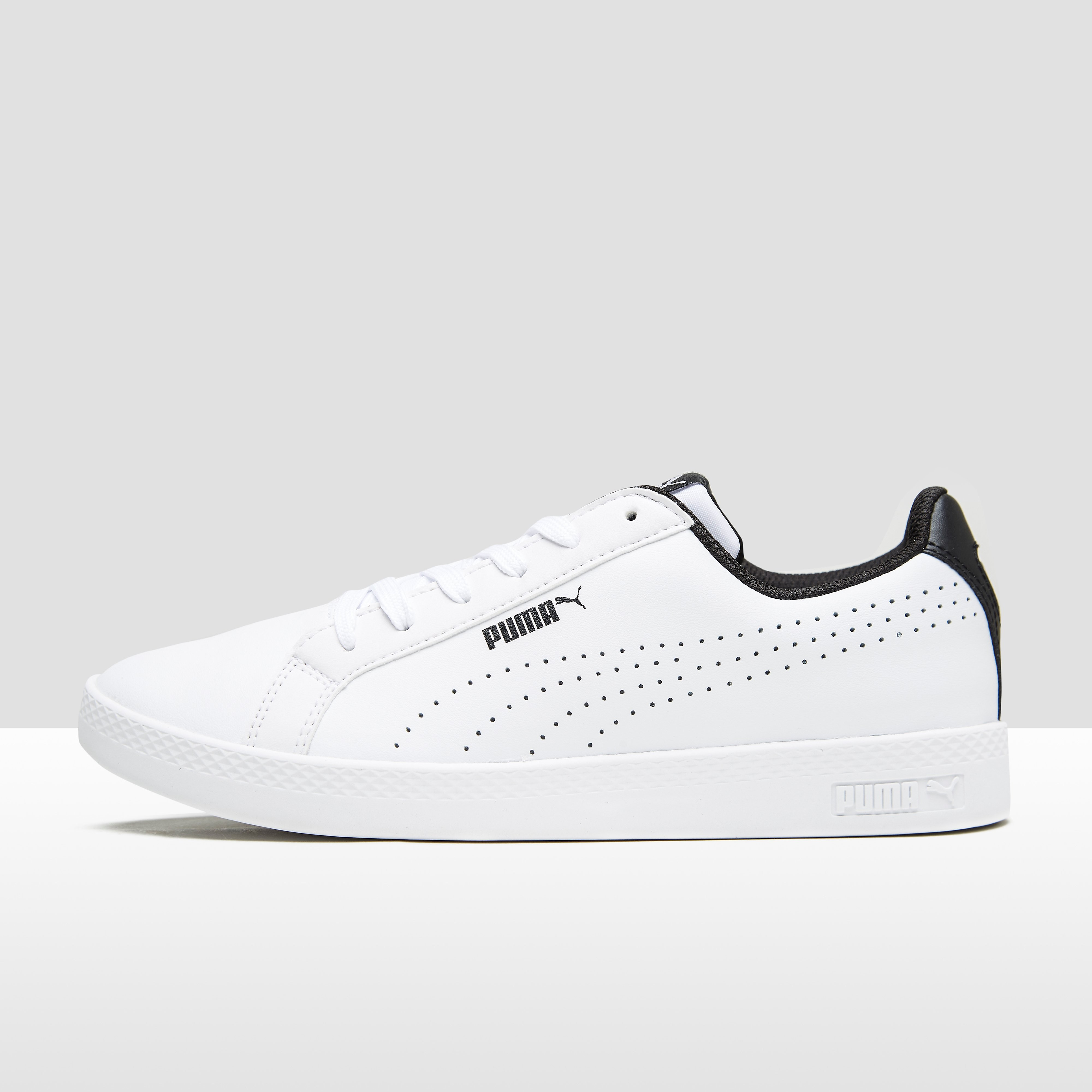 PUMA SMASH PERF SNEAKERS WIT/ZWART DAMES