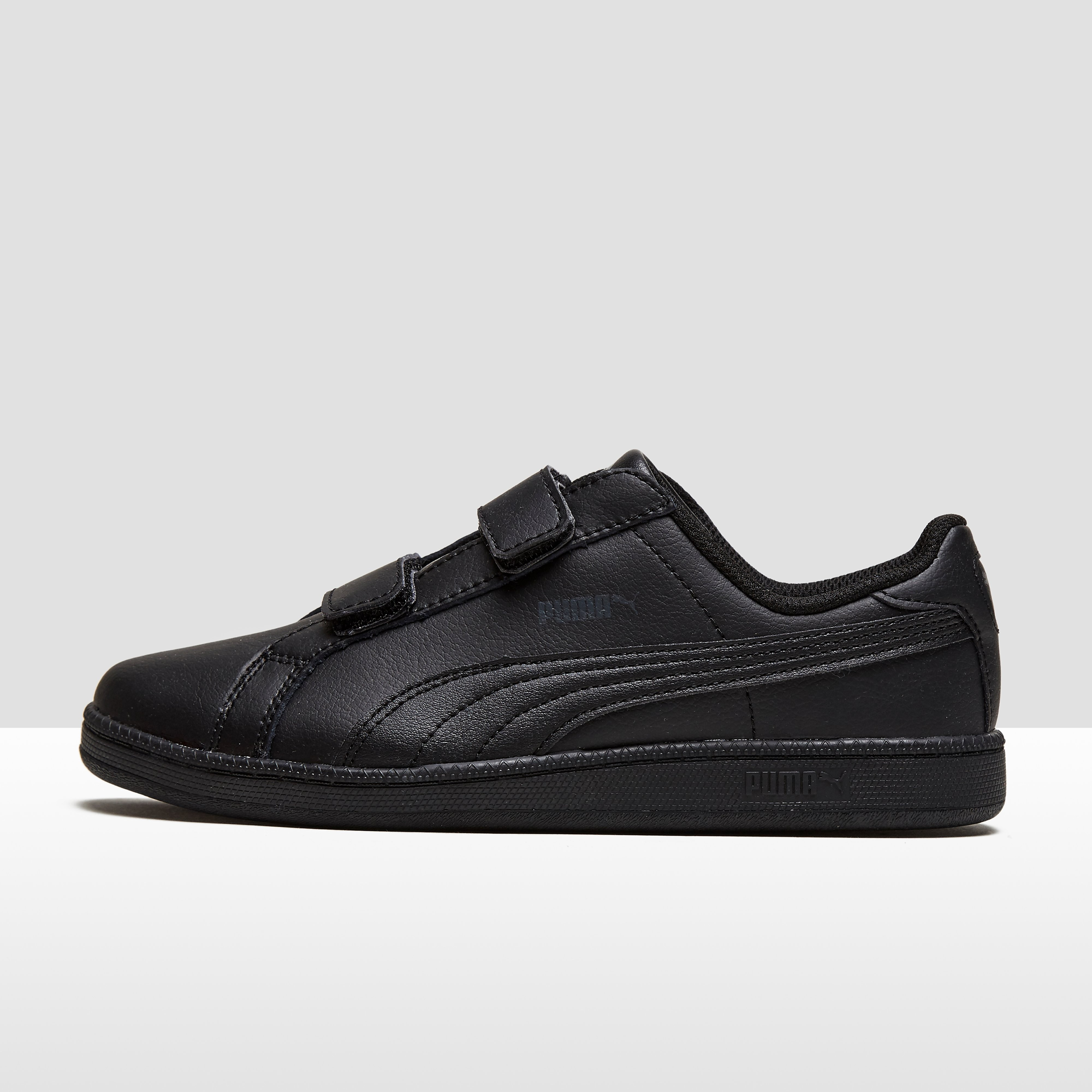 PUMA SMASH LEATHER SNEAKERS ZWART KINDEREN