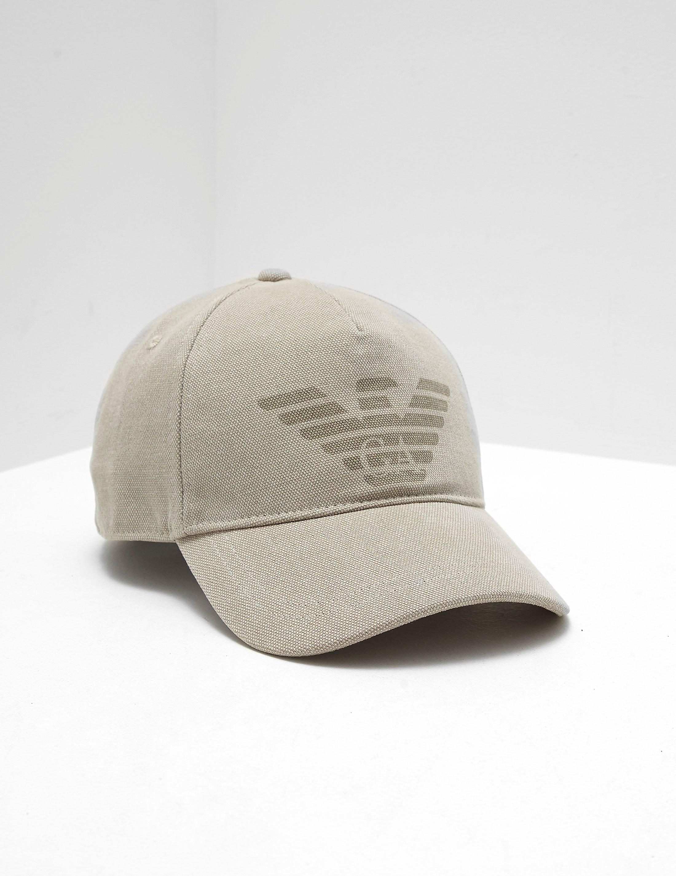 84e55725b5c Mens Emporio Armani Eagle Canvas Cap Khaki