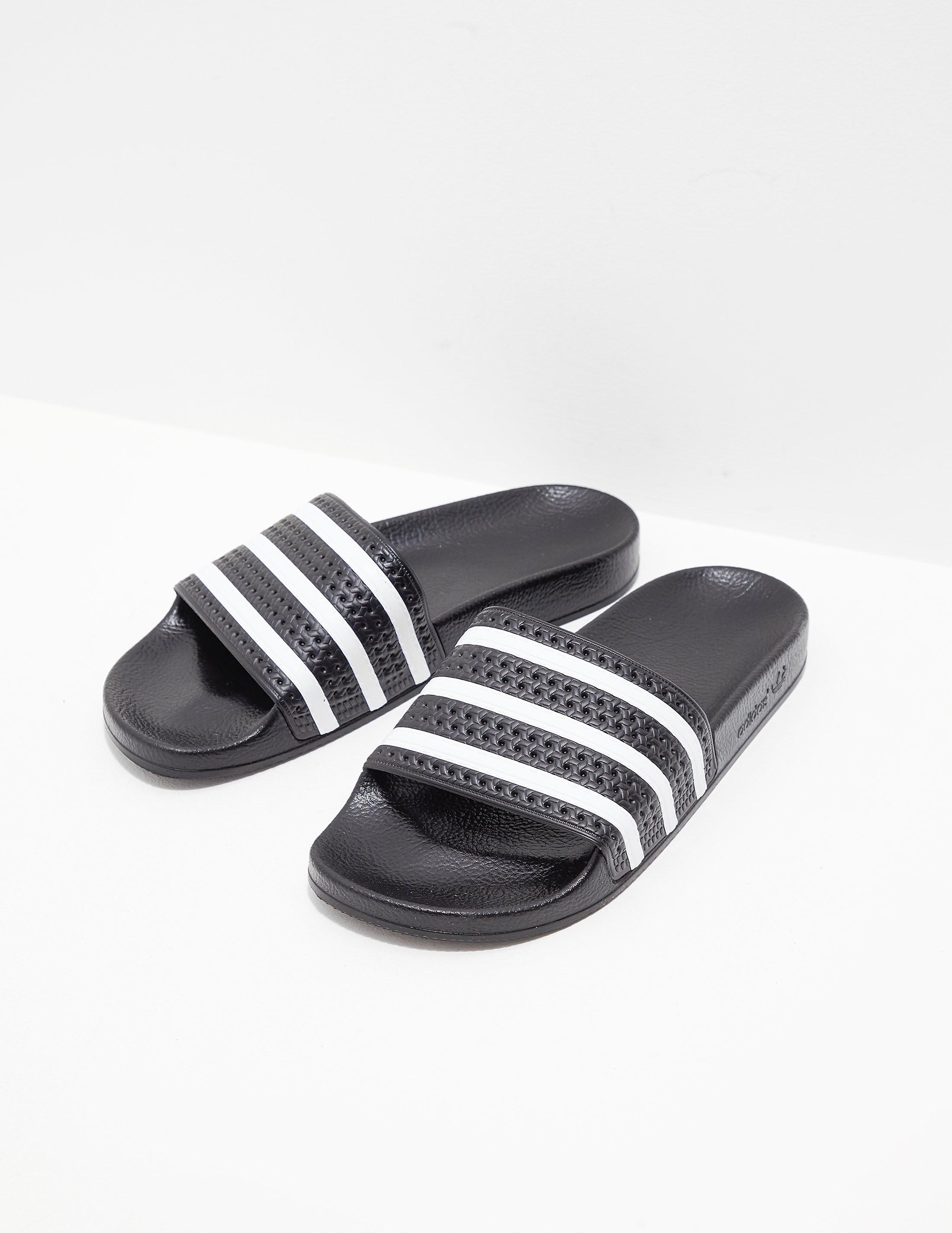 aa1f1c6eb Mens adidas Originals Adilette Slides Black
