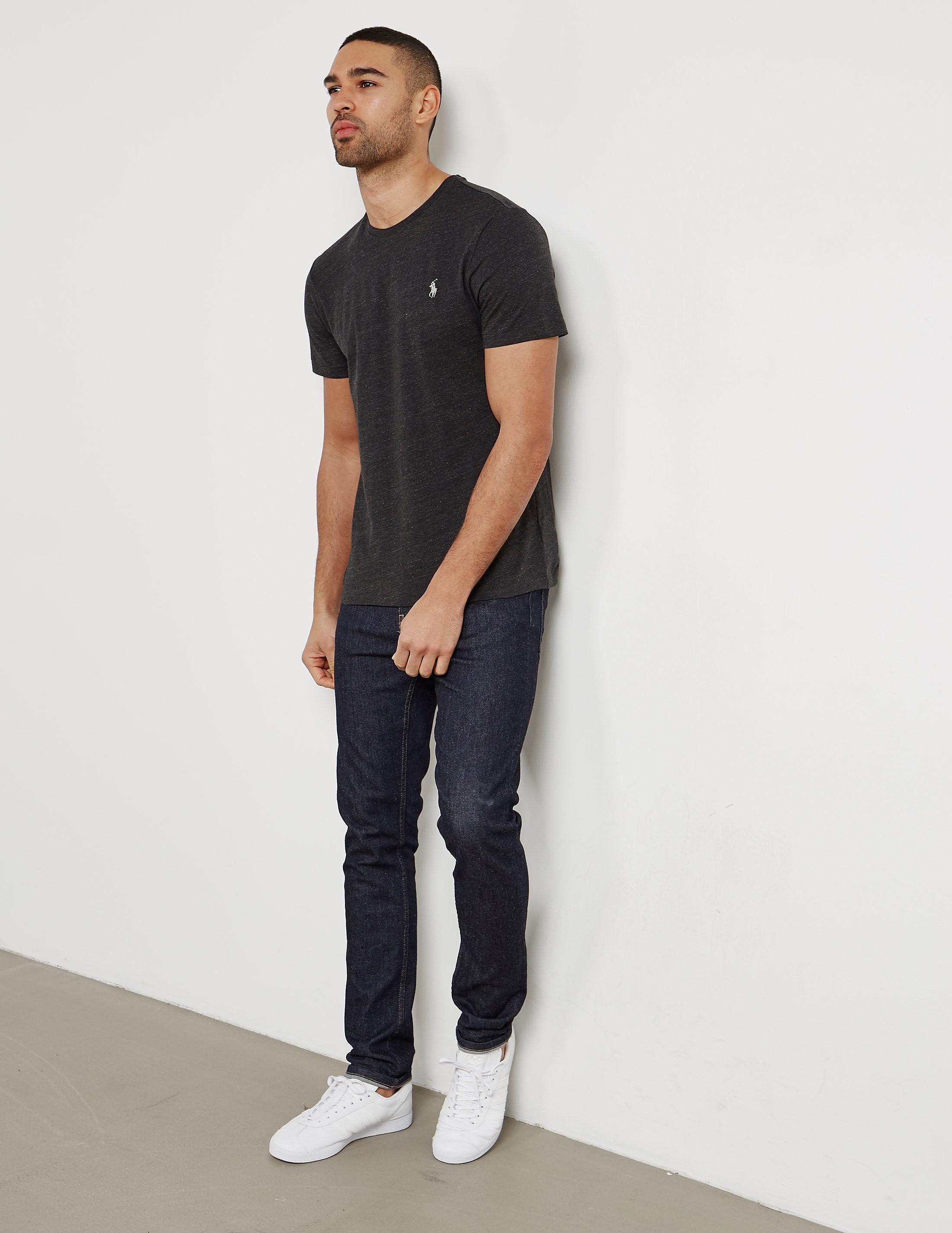 Mens Polo Ralph Lauren Crew Neck Short Sleeve T Shirt Black Black