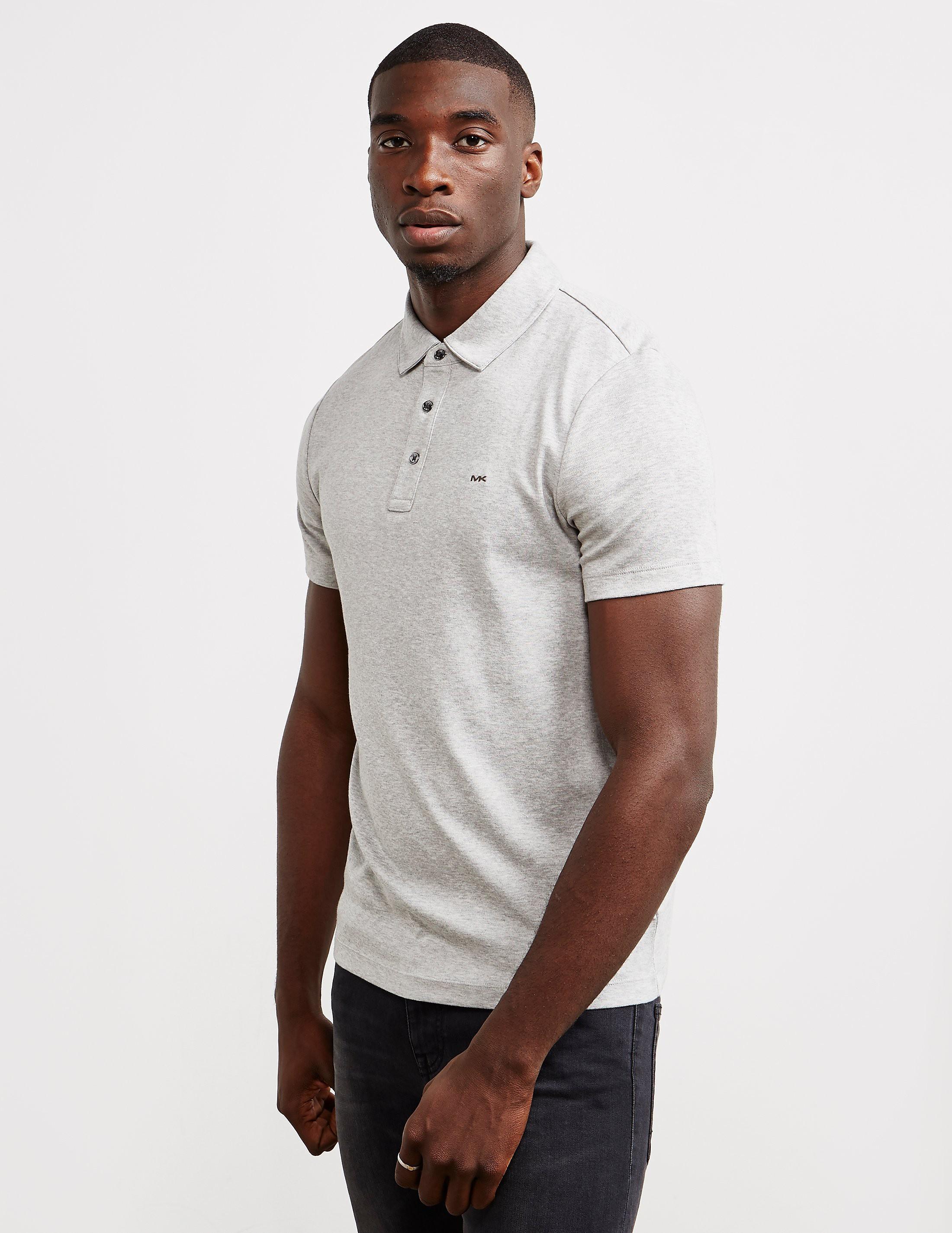 9c262cae8 Mens Michael Kors Sleek Short Sleeve Polo Shirt Grey