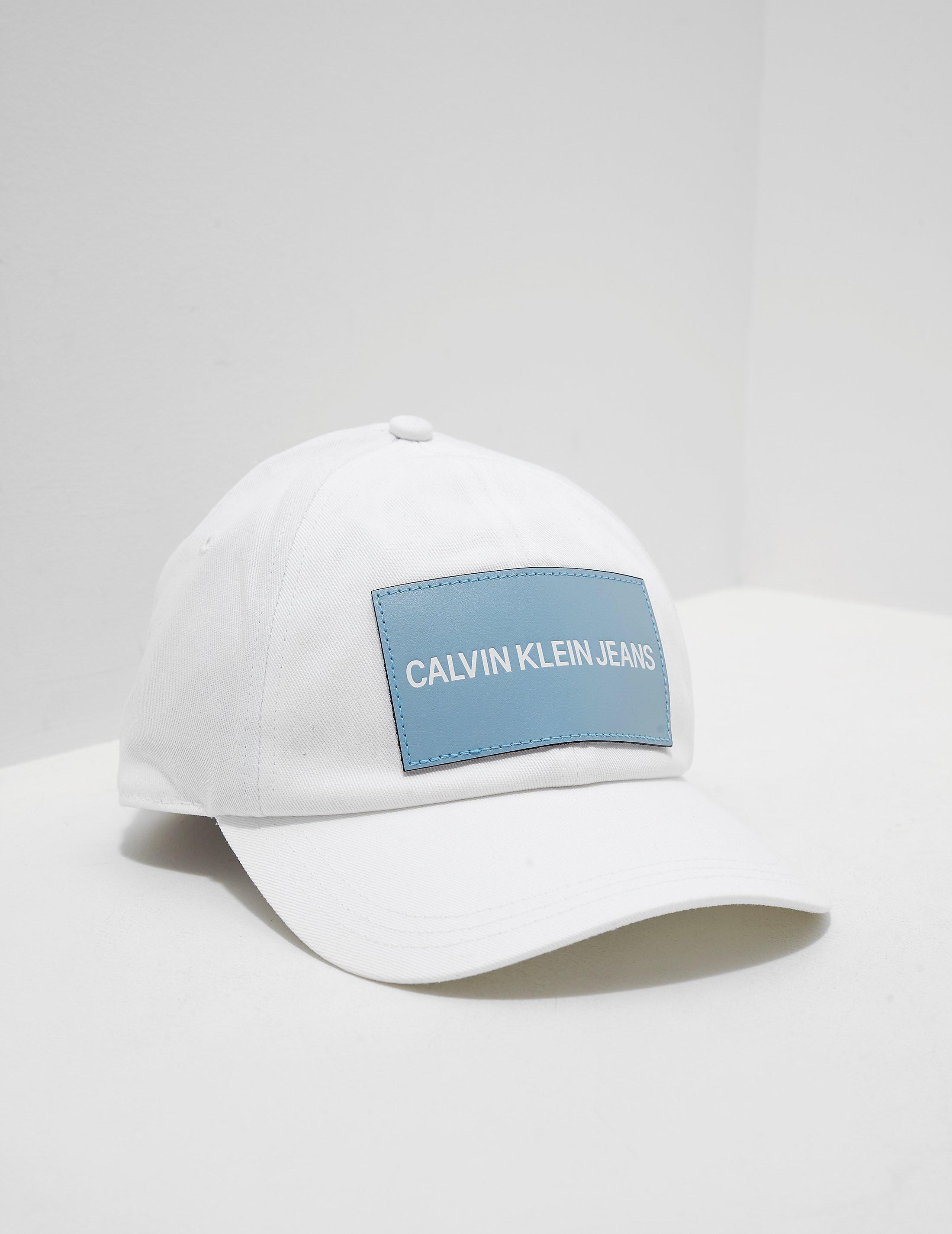 7e2bd3788dd Womens Calvin Klein Jeans Patch Logo Cap White