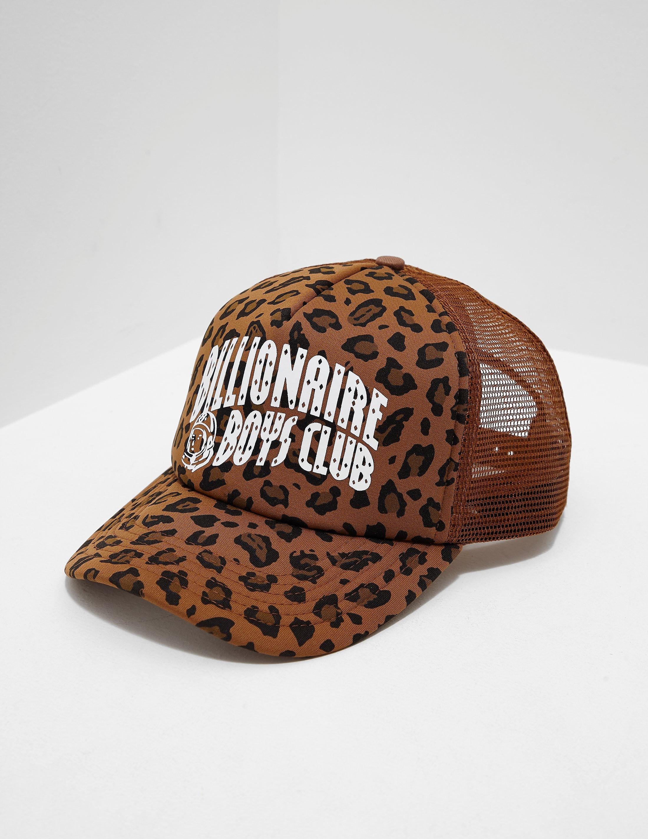 d1489e6d71d Mens Billionaire Boys Club Leopard Trucker Cap Olive