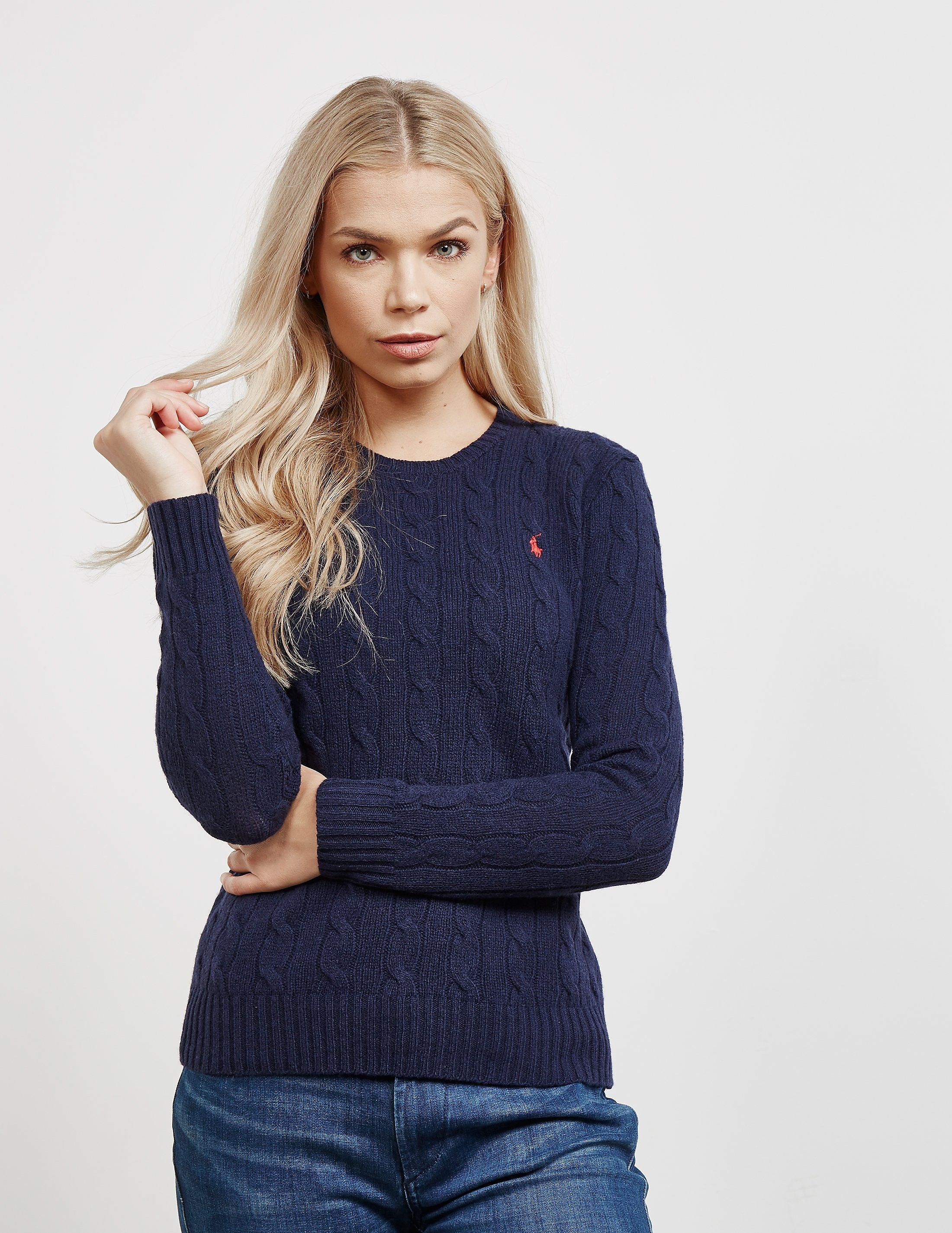 917f9e312bd4 Womens Polo Ralph Lauren Juliana Knitted Jumper Navy blue