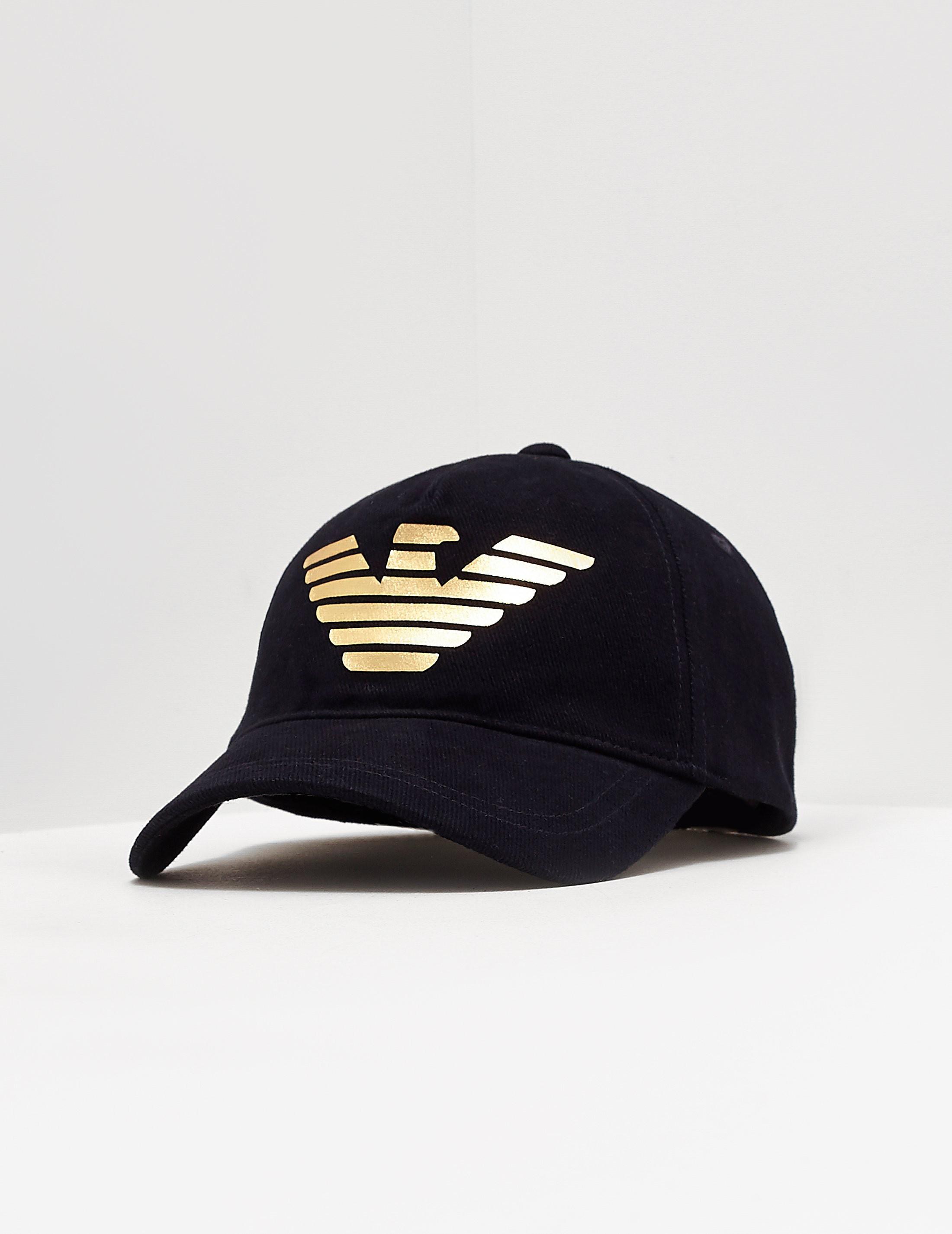 3a5640e1c2f Mens Emporio Armani Foil Eagle Cap Navy blue