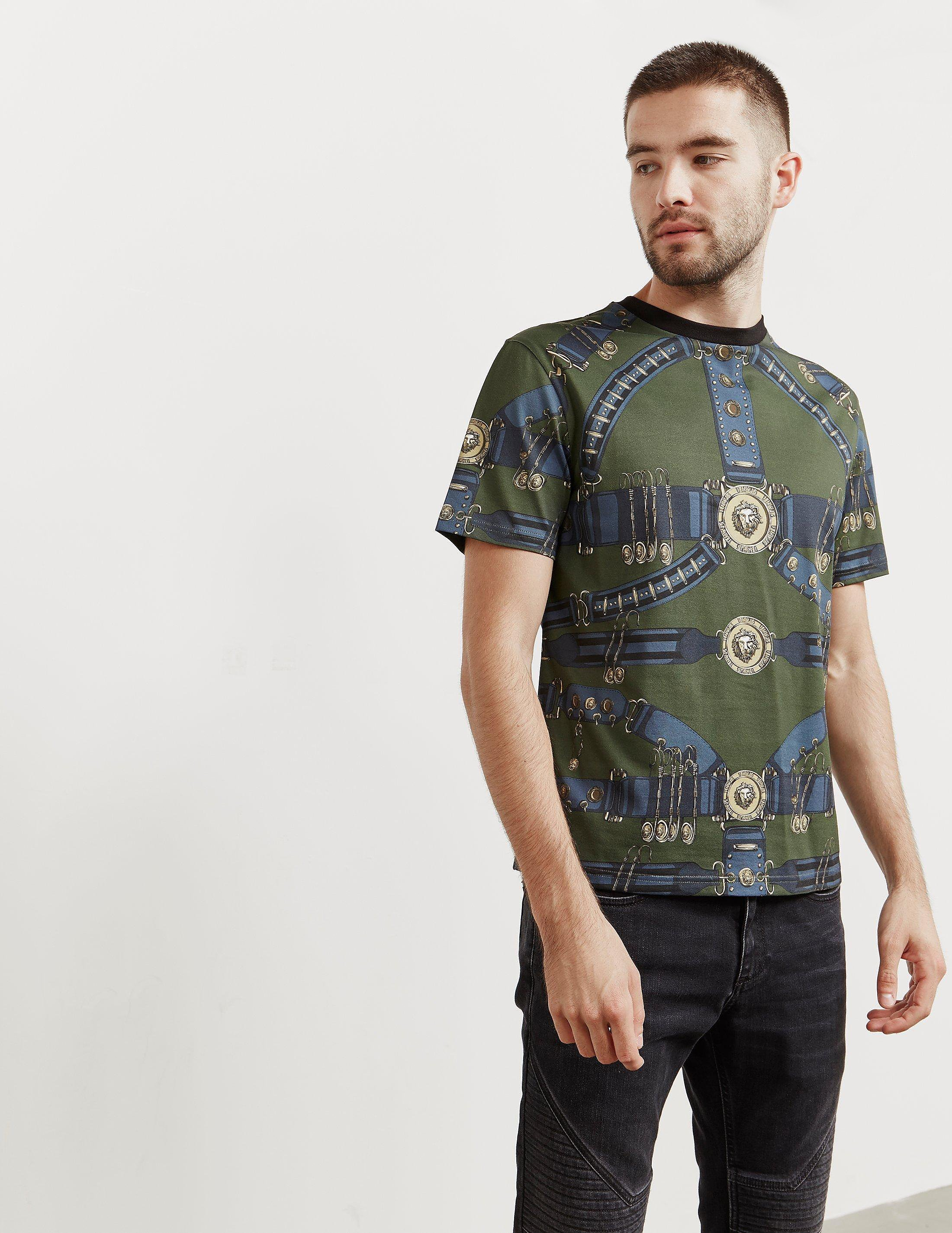 d8e2a717 Mens Versus Versace Printed Short Sleeve T-Shirt - Online Exclusive Green,  Green