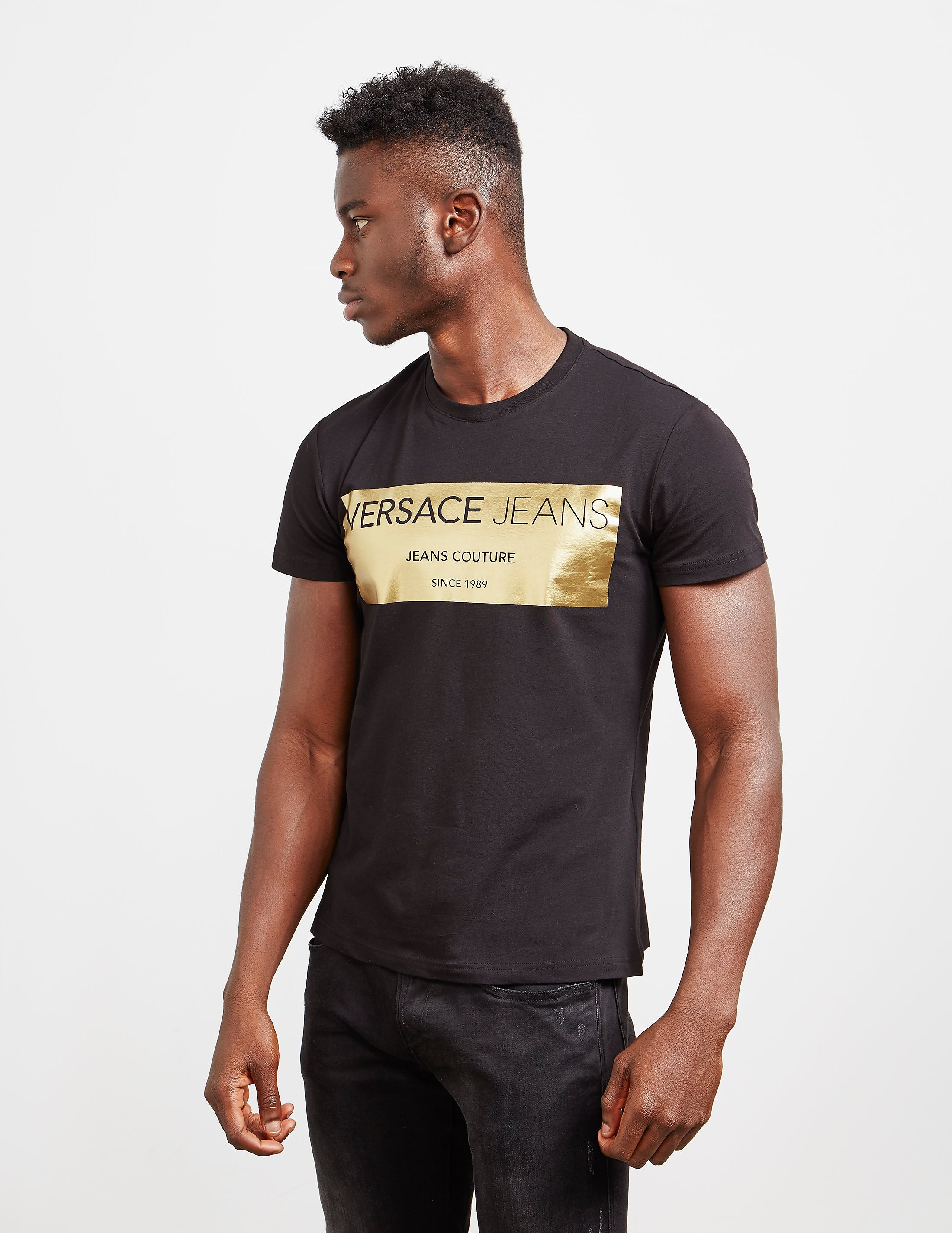 184ba36d Versace Jeans Tiger Foil Logo T Shirt - raveitsafe