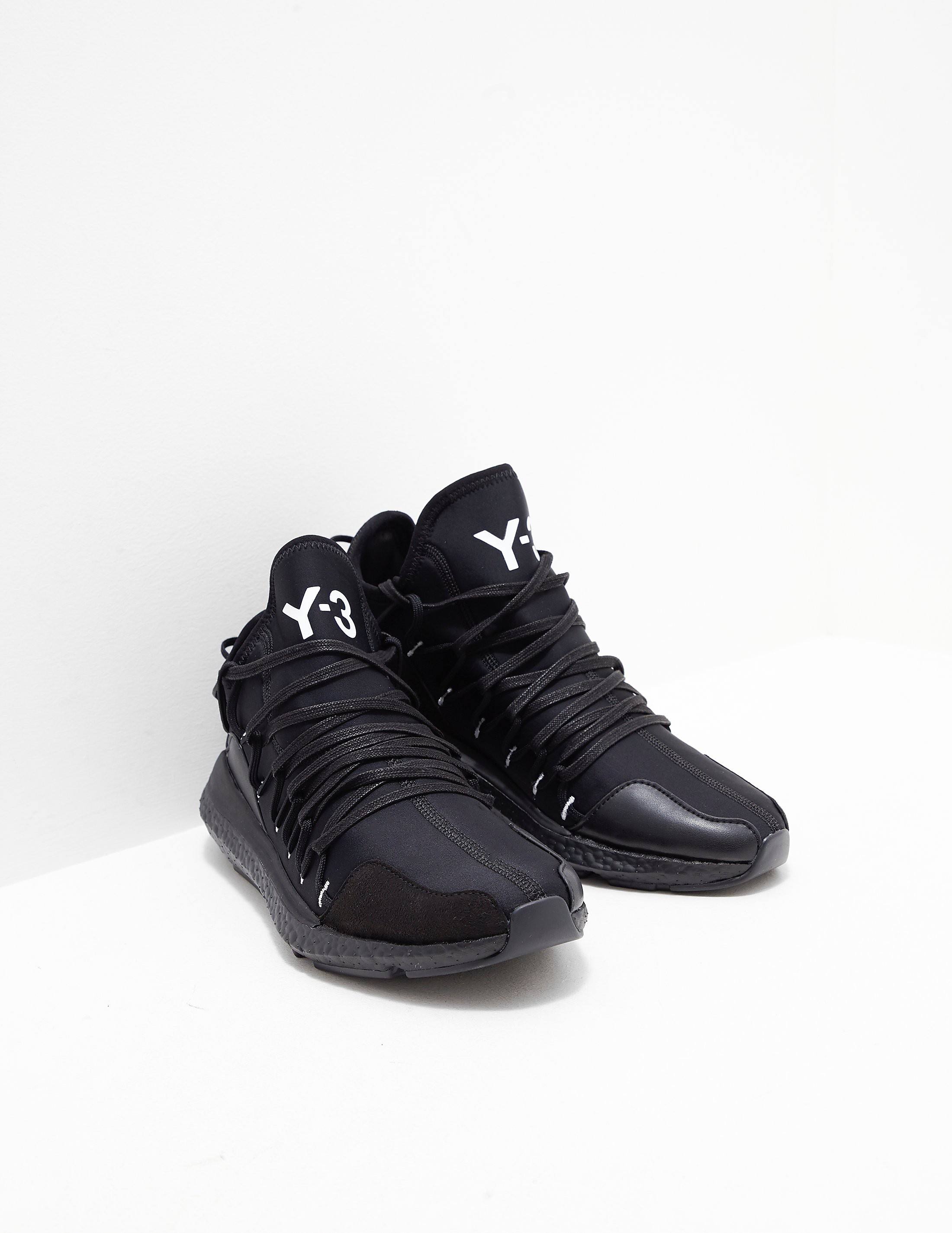 c50f1802a076a Mens Y-3 Kusari Trainers Black