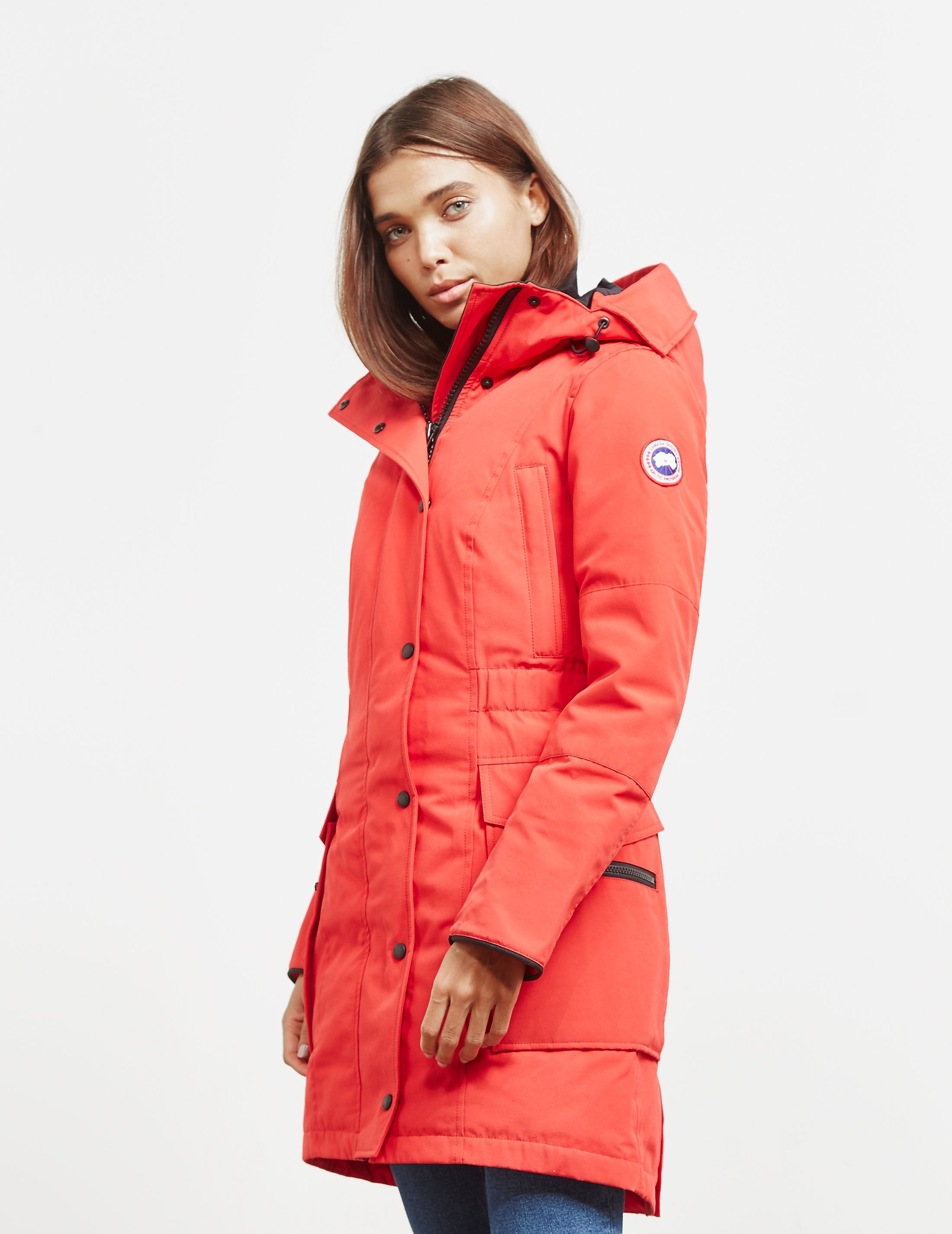 Womens Canada Goose Kinley Parka Padded Jacket Red 0b88beea7