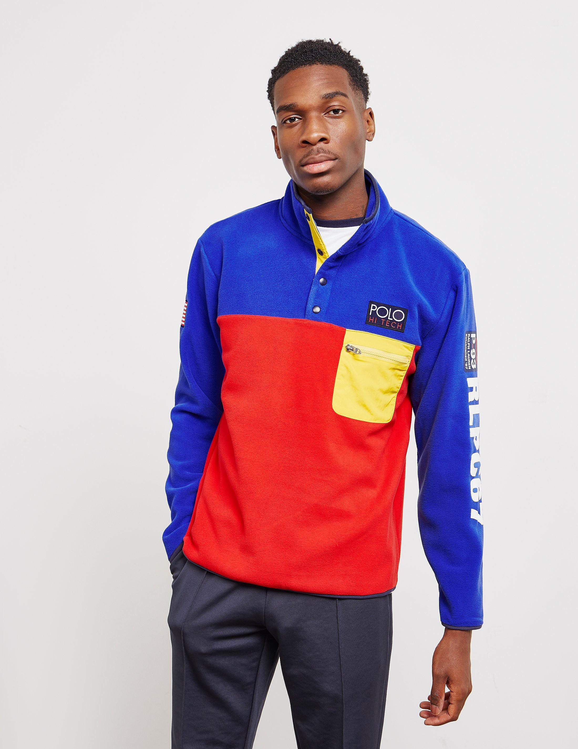 3a320a310f0b Mens Polo Ralph Lauren Hi Tech Button Sweatshirt Blue