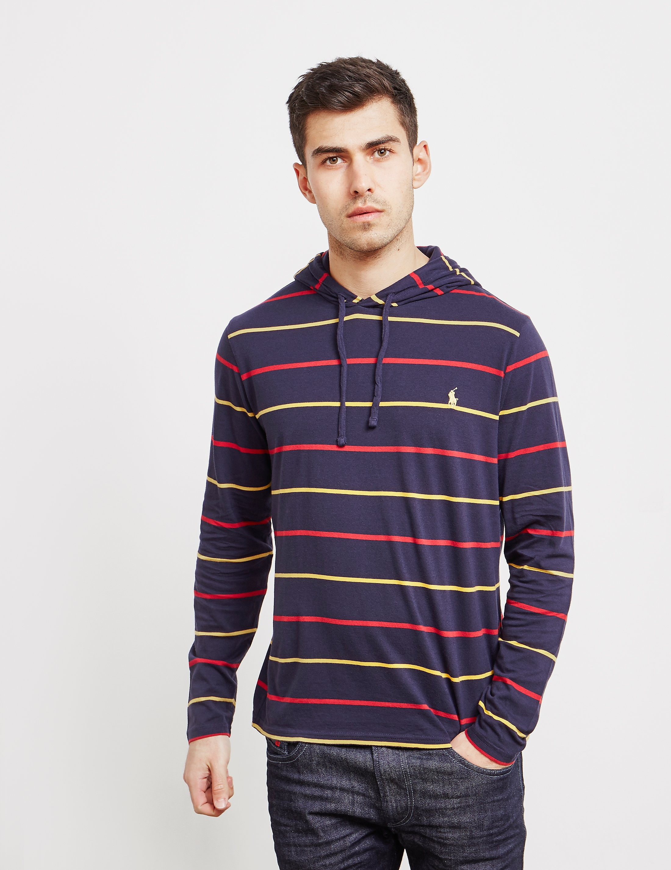 2c66f15f Mens Polo Ralph Lauren Stripe Hooded Long Sleeve T-Shirt Navy blue, Navy  blue