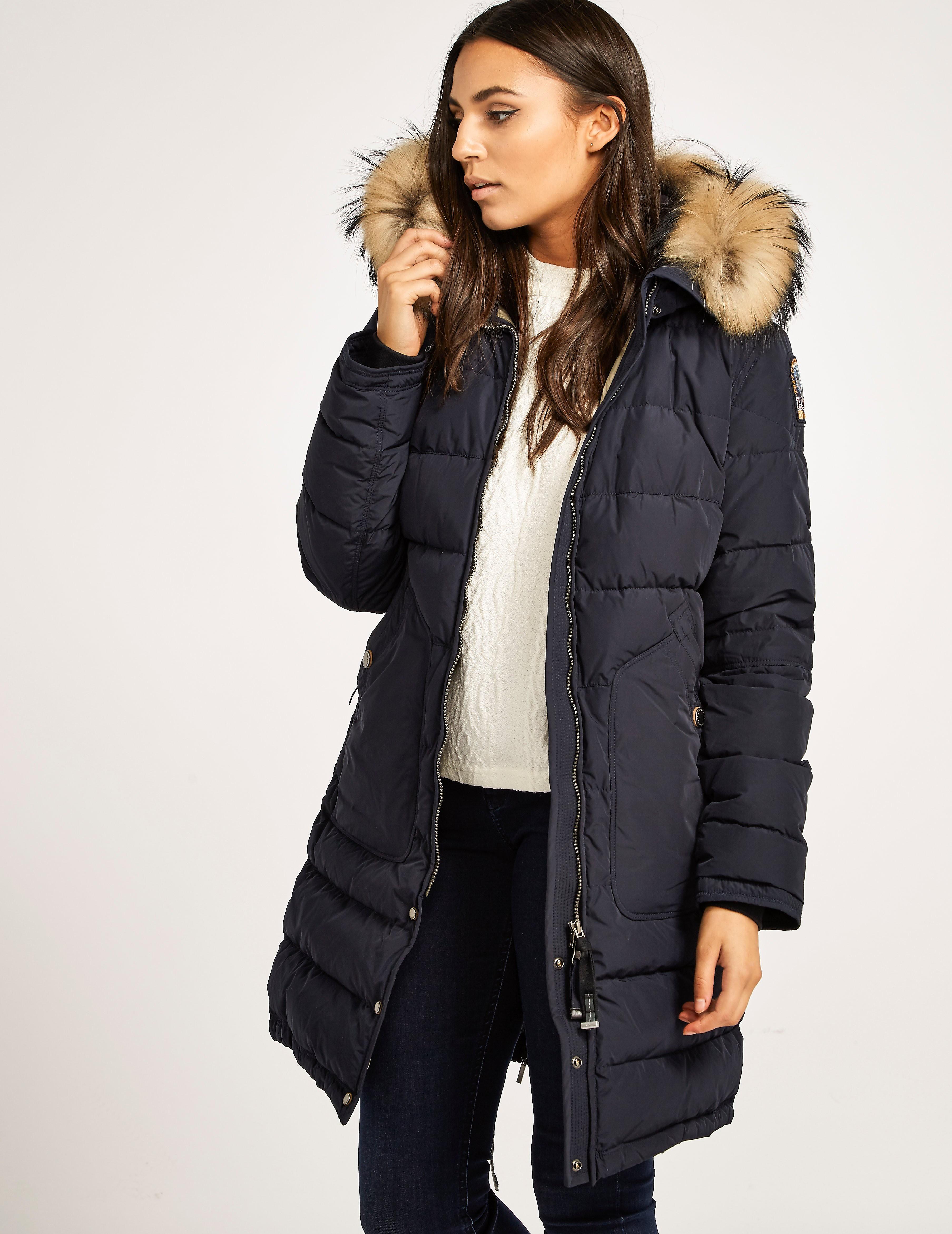 womens parajumpers light long padded bear jacket. Black Bedroom Furniture Sets. Home Design Ideas