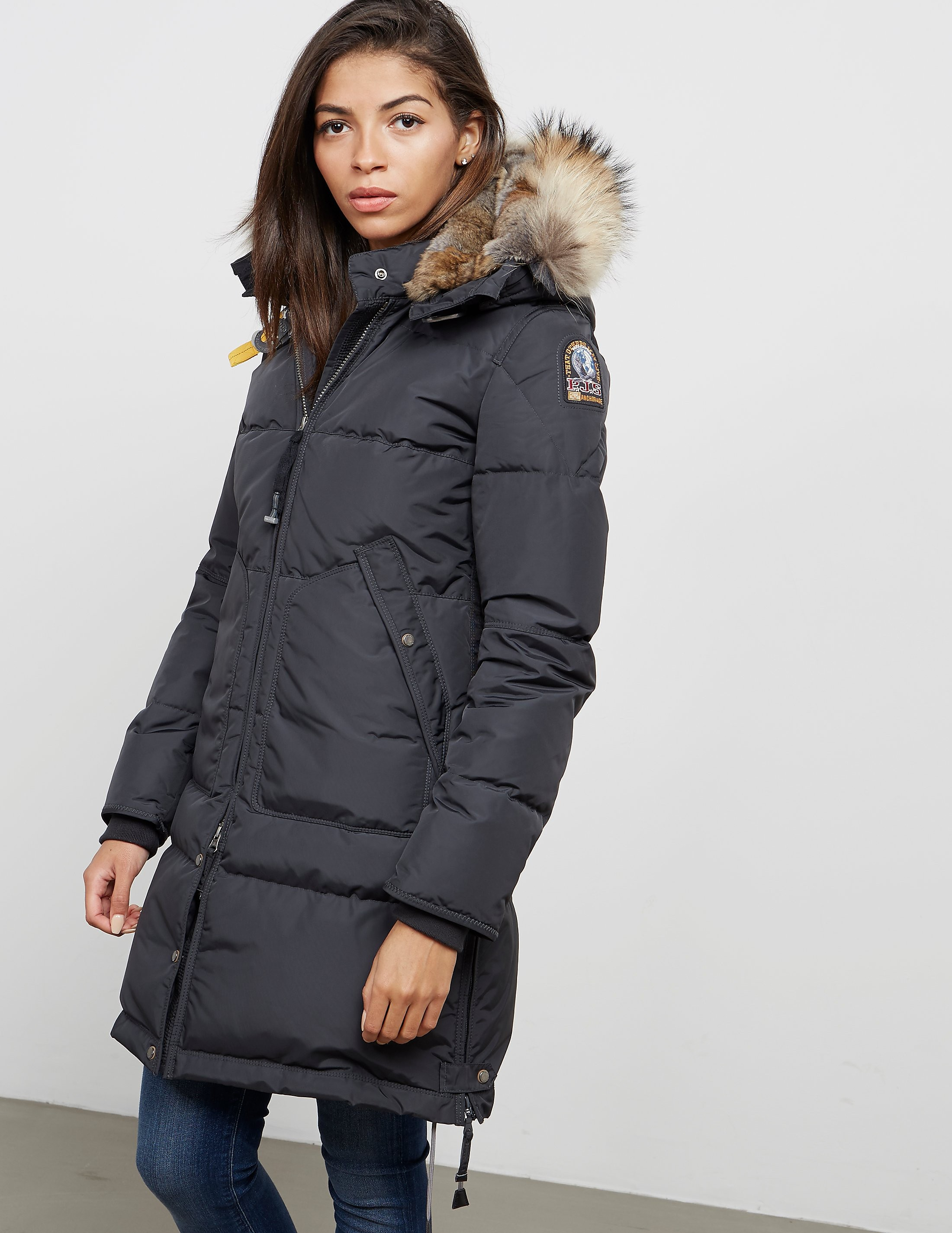 womens parajumpers long bear padded jacket grey. Black Bedroom Furniture Sets. Home Design Ideas