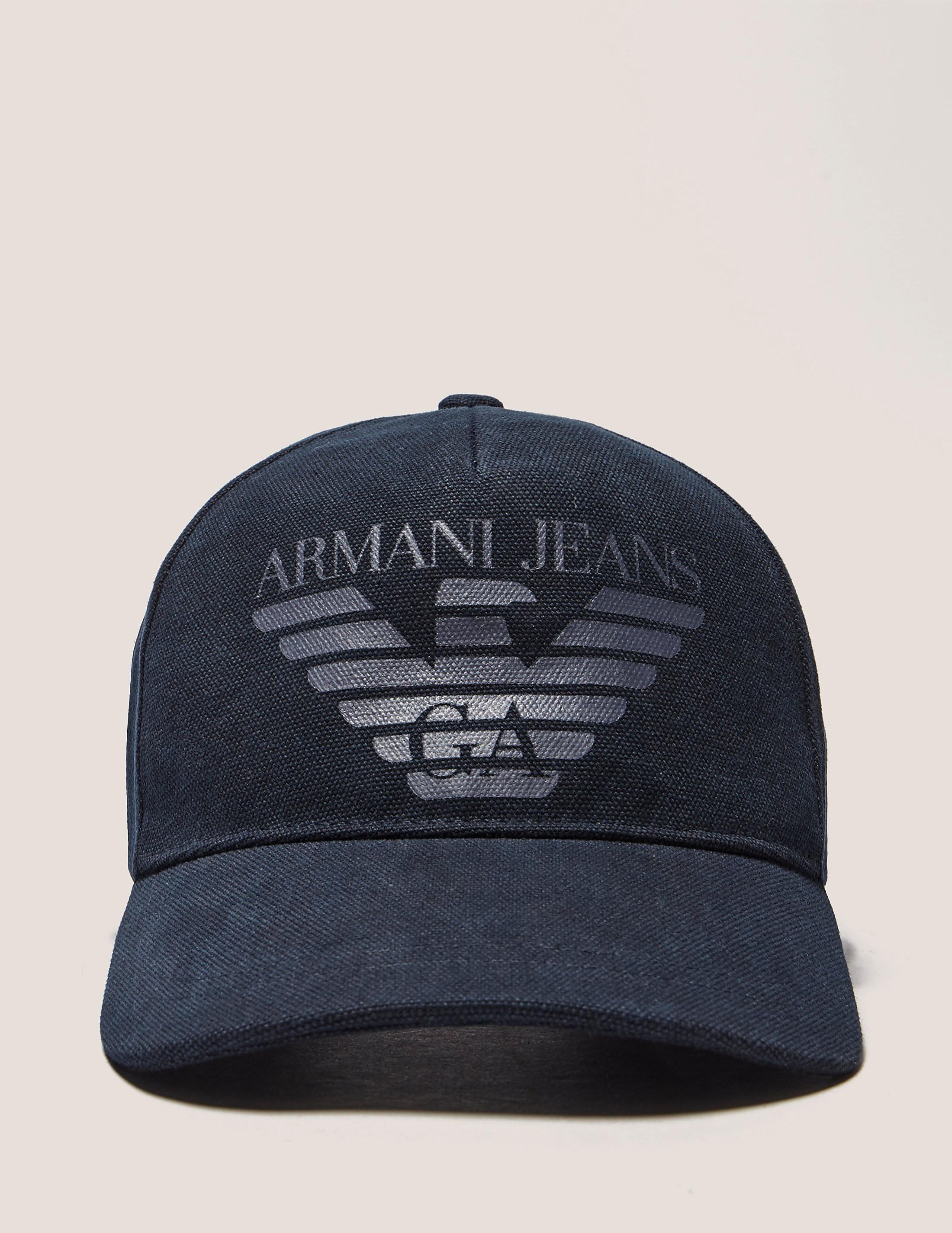 Armani Jeans Large Eagle Logo Cap