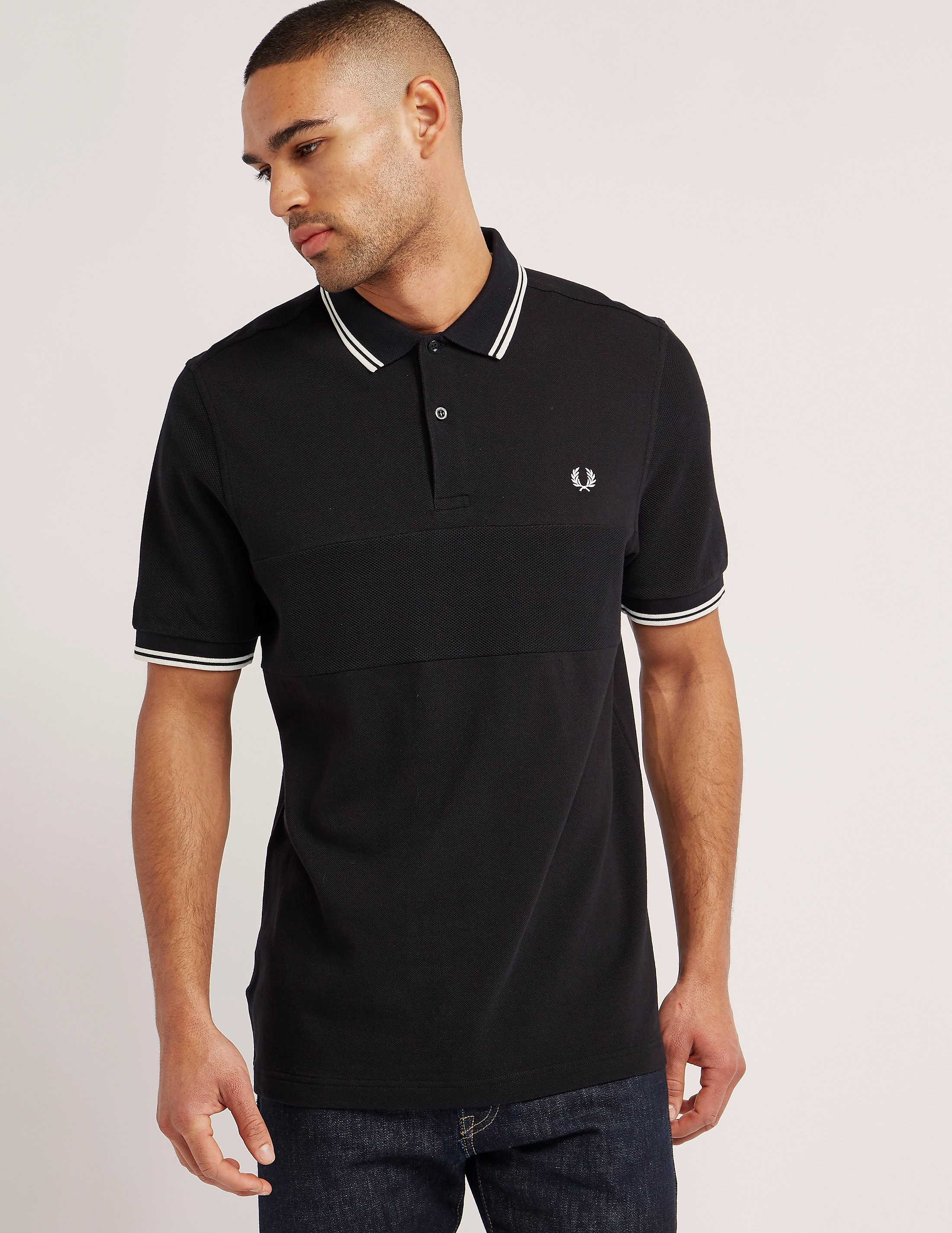 Fred Perry Textured Panel Polo Shirt