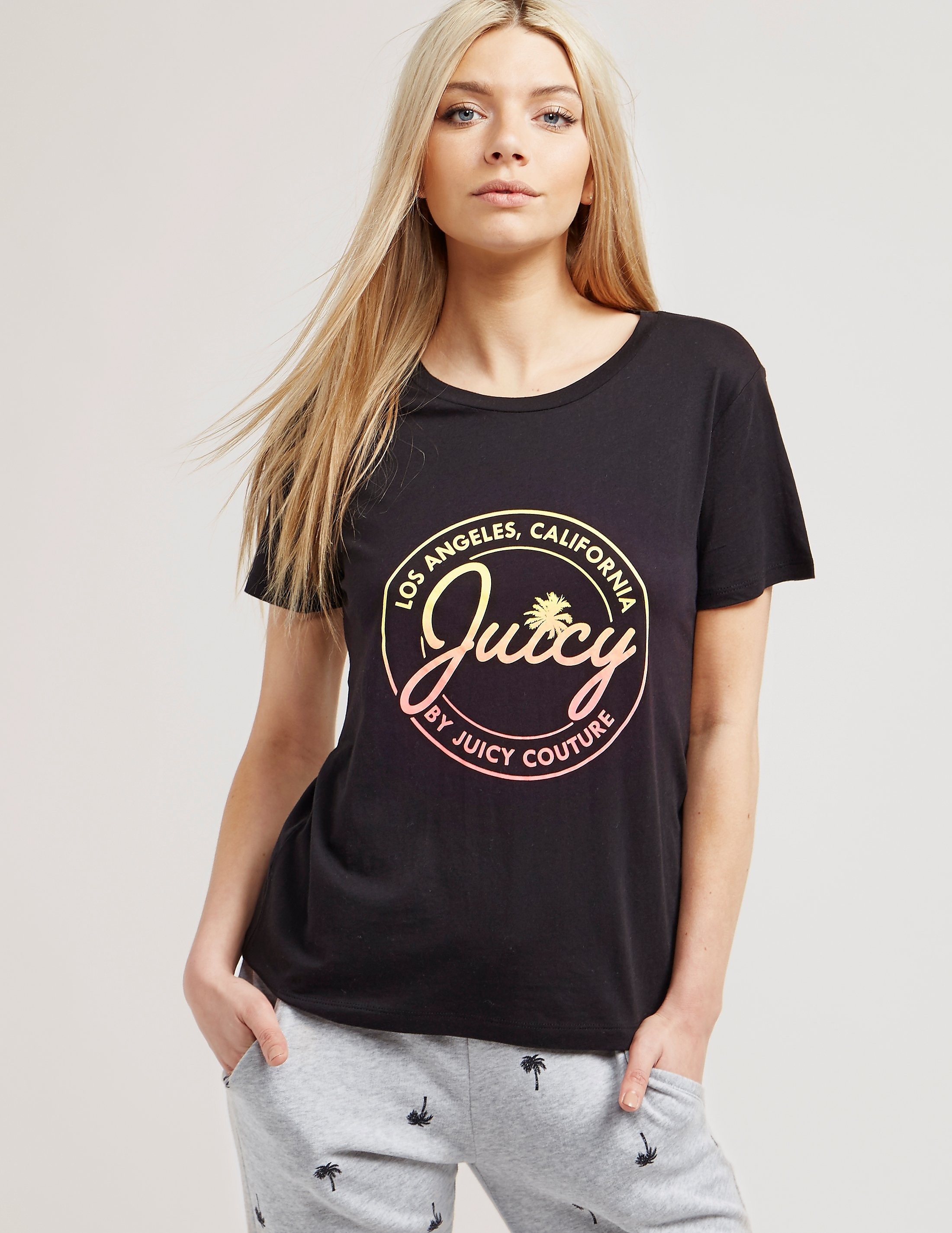 Juicy Couture Short Sleeve Ombre Logo TShirt