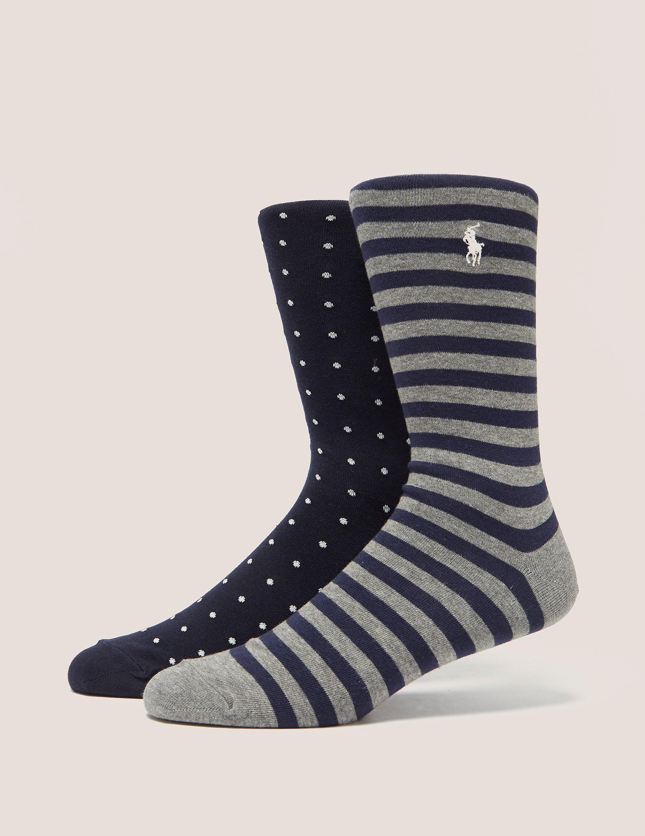 Polo Ralph Lauren 2Pack Spot & Stripe Socks
