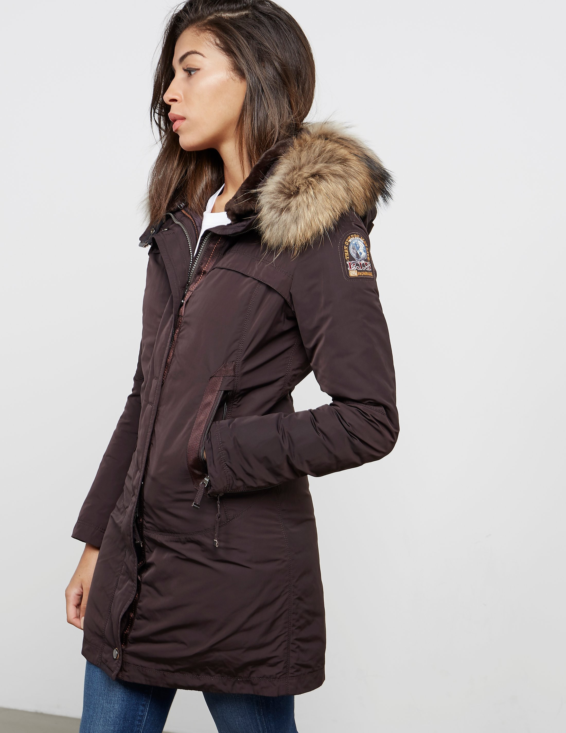 parajumpers selma woman sale; womens parajumpers selma padded parka jacket bluewater 449.00