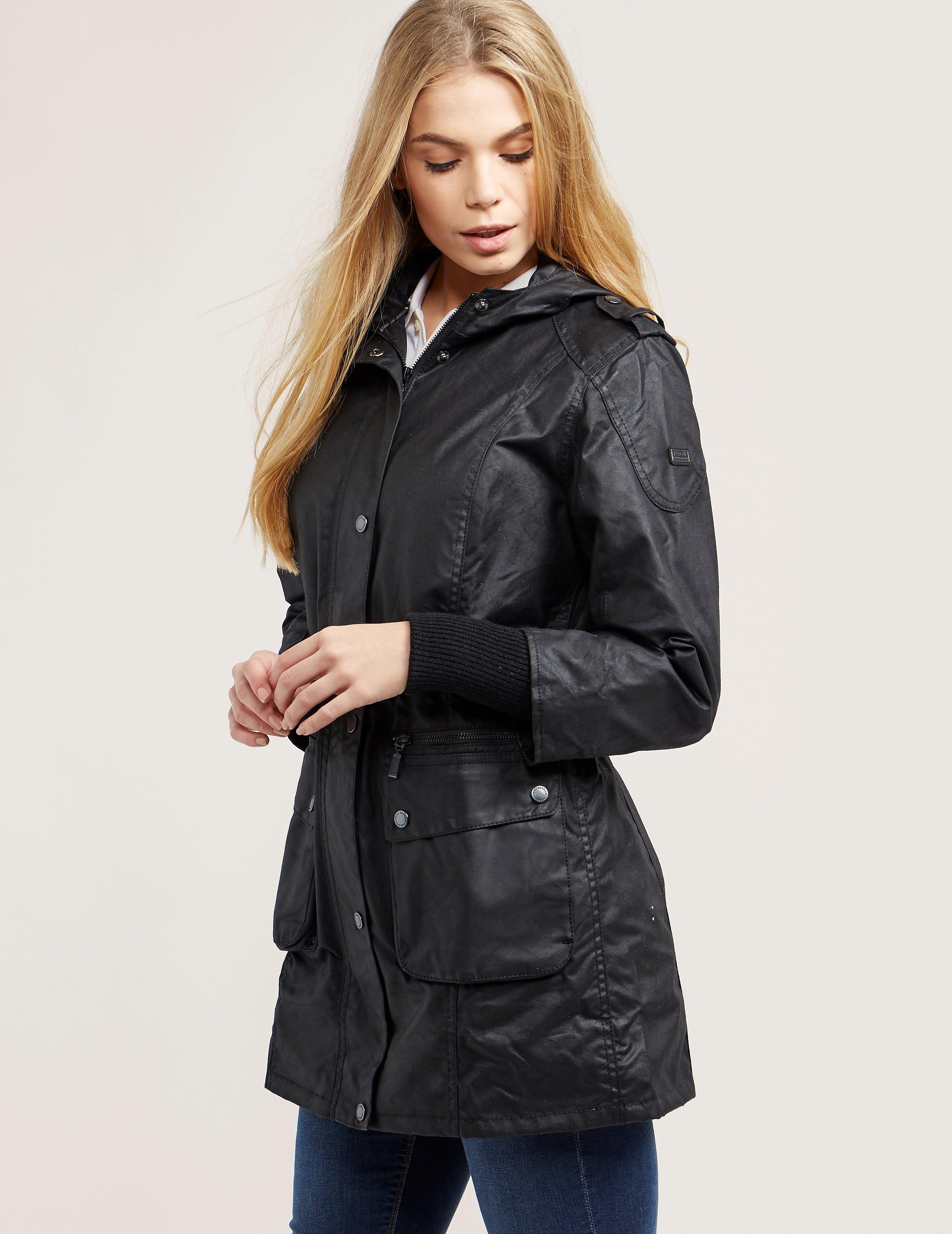 Barbour International Riser Wax Parka Jacket