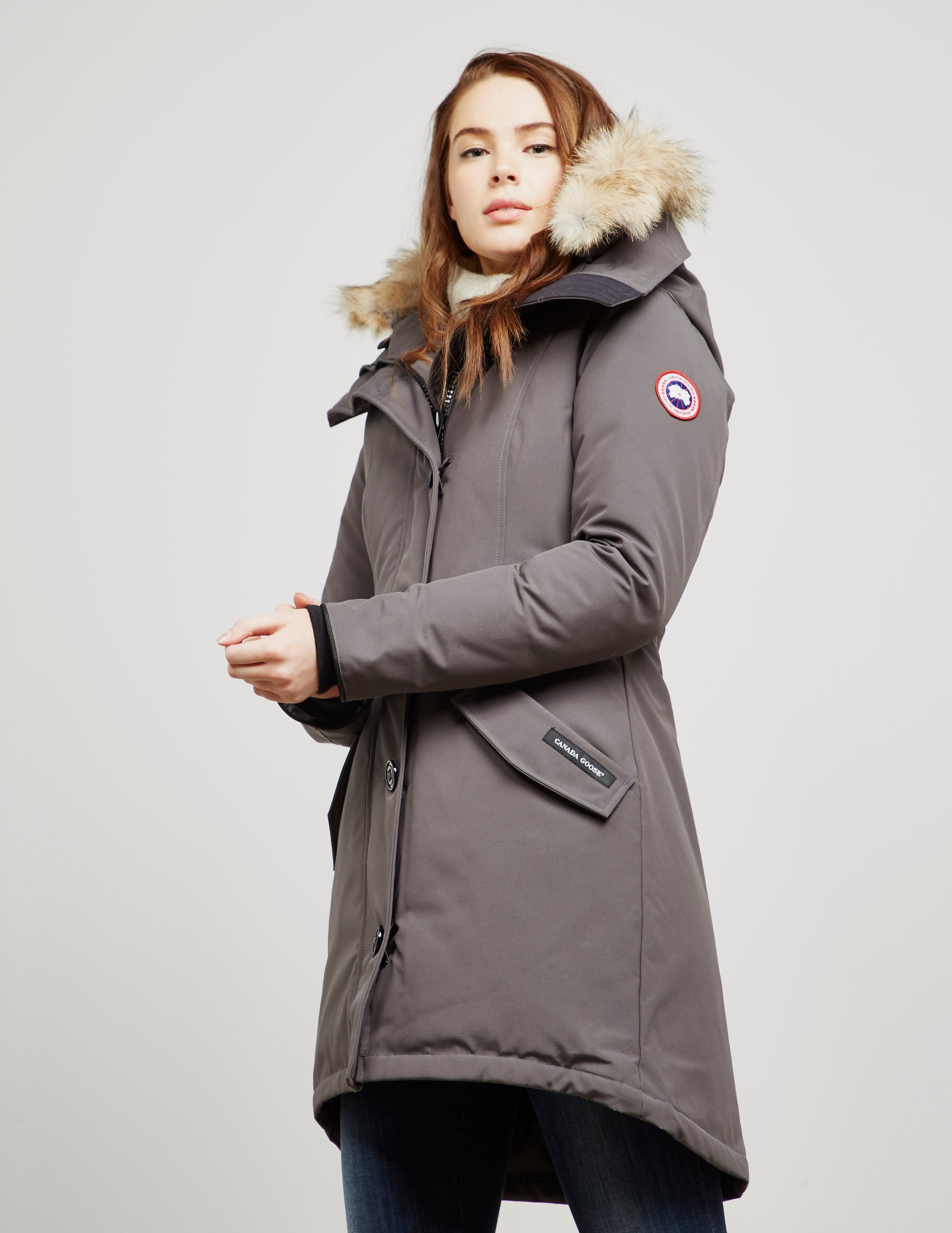 Womens Canada Goose Rossclair Padded Parka Jacket Grey 93f66db50
