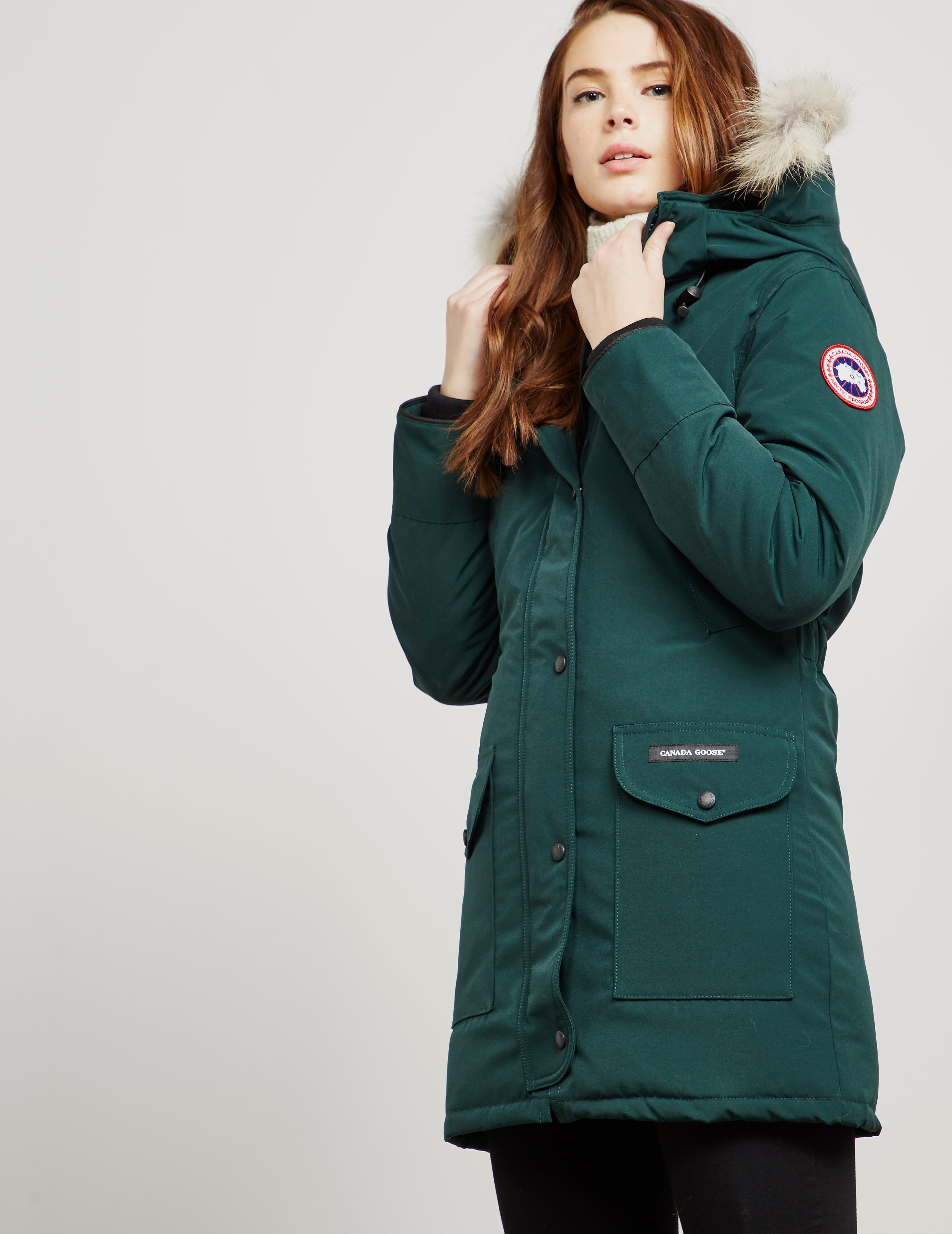 57c73ab09cf ... new zealand canada goose womens canada goose trillium padded parka  jacket green green 659.00 bluewater 1433f