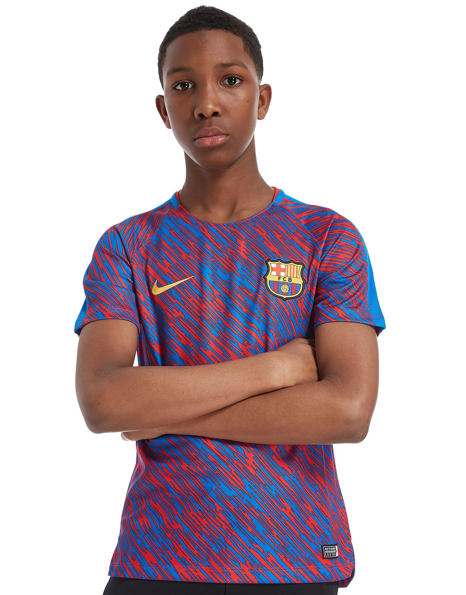 Nike FC Barcelona Squad Pre Match Shirt Junior