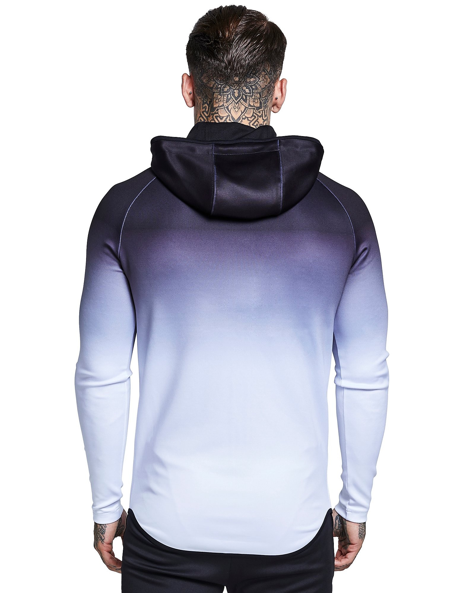 SikSilk Athlete Zip Through Fade Hoodie