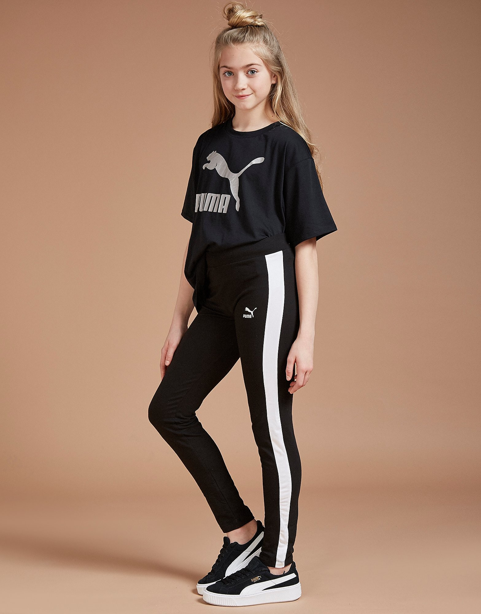 PUMA Girls' T7 Panel Leggings Junior