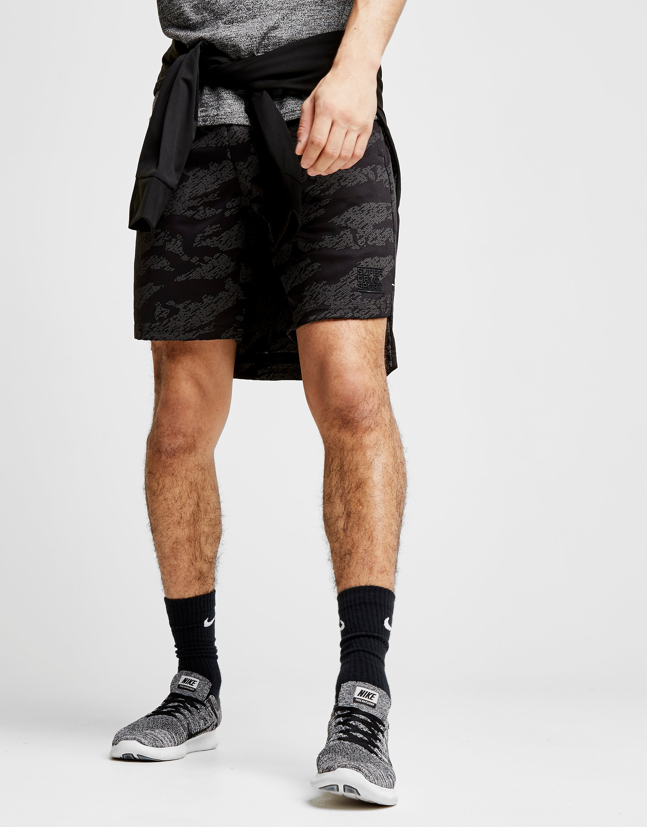 Superdry All Over Camo Training Shorts