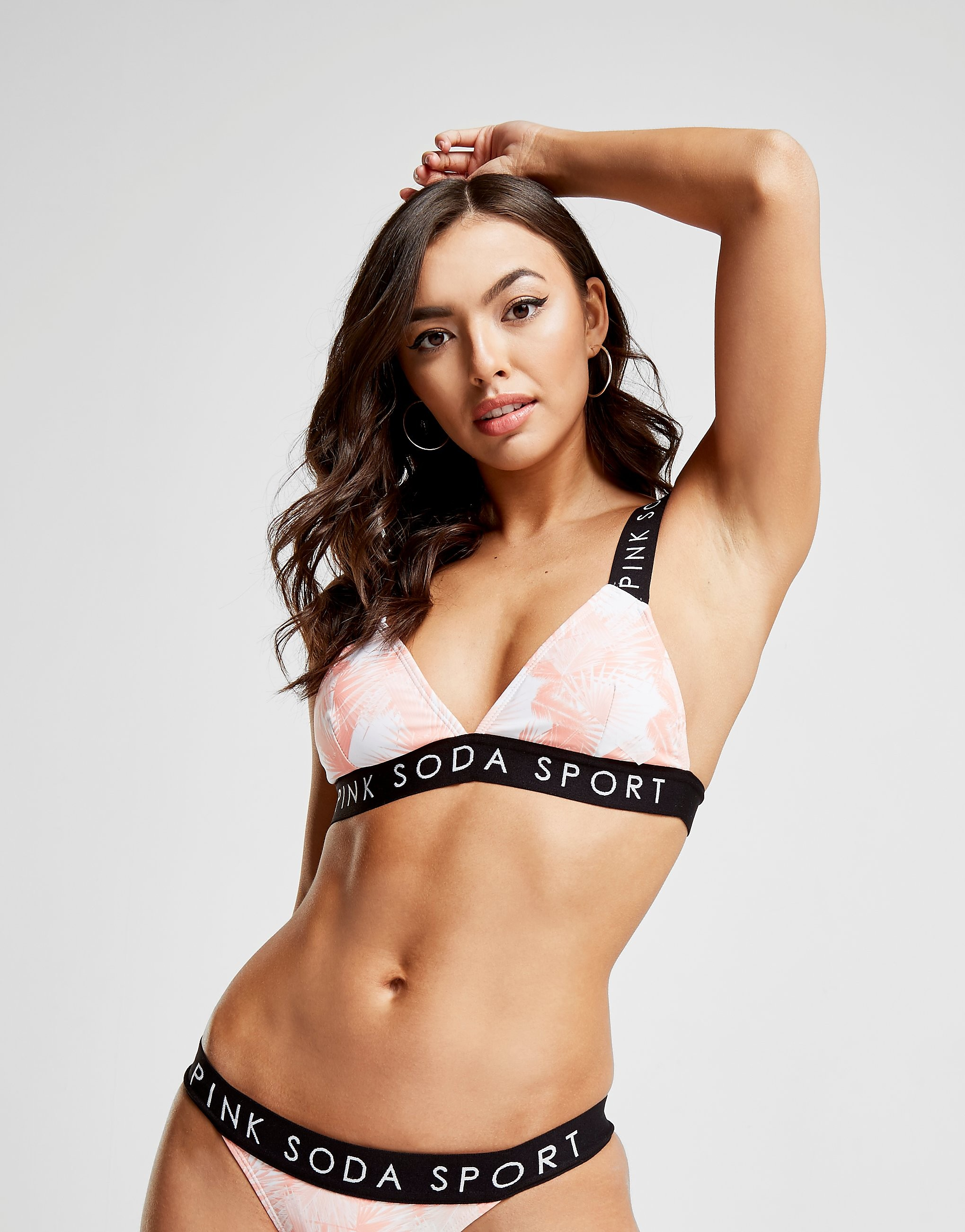 Pink Soda Sport Tropical Bikini Top